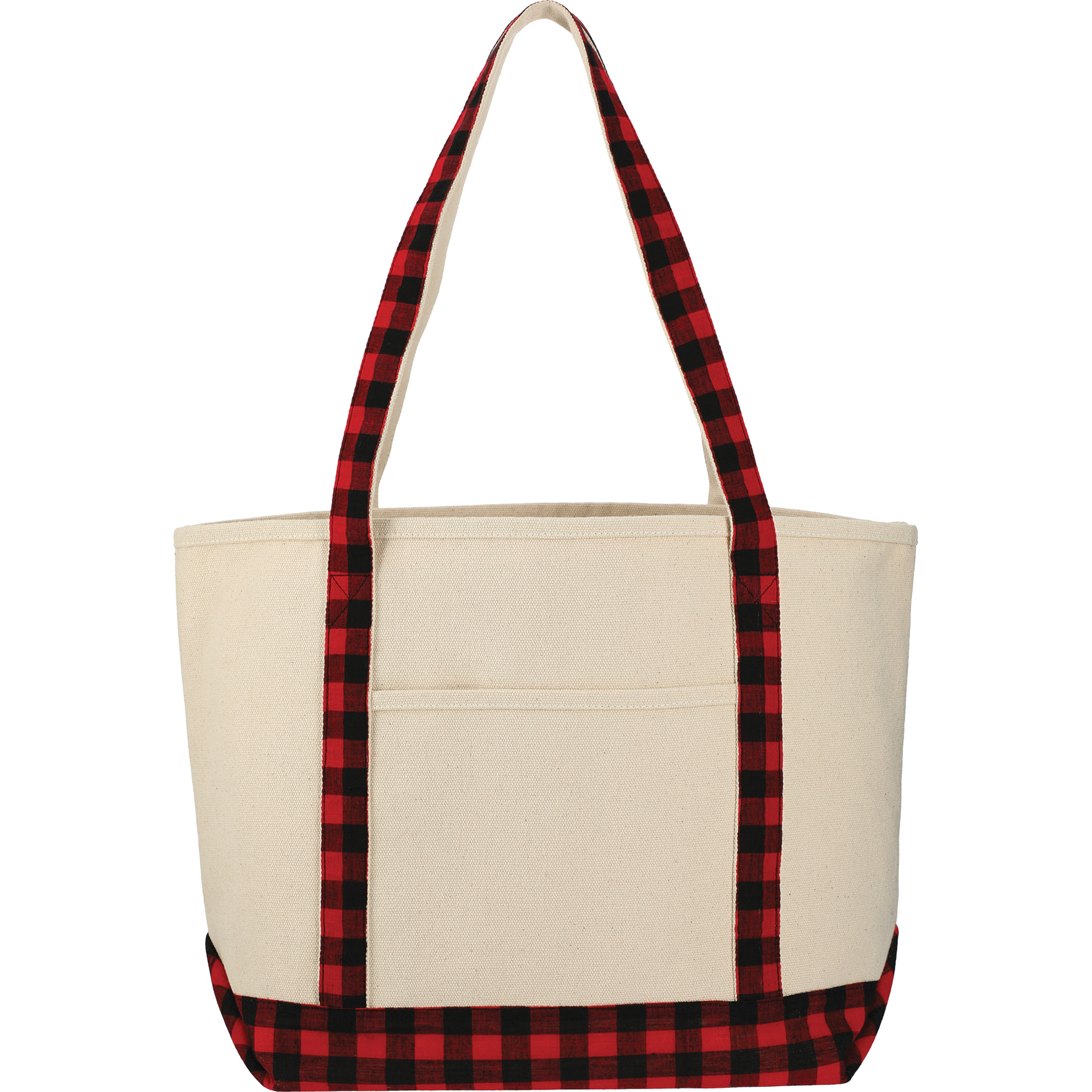 LEEDS 2160-27 - Buffalo Plaid Cotton Boat Tote