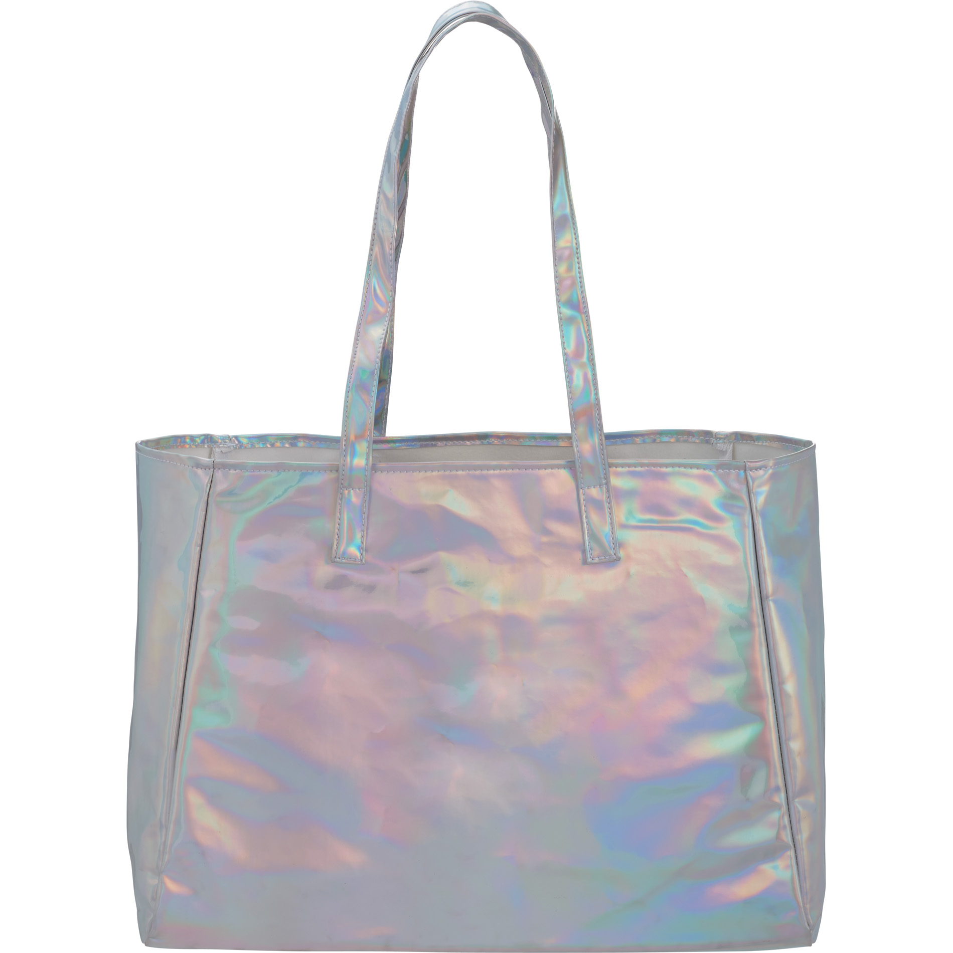 LEEDS 2190-10 - Holographic Shopper Tote