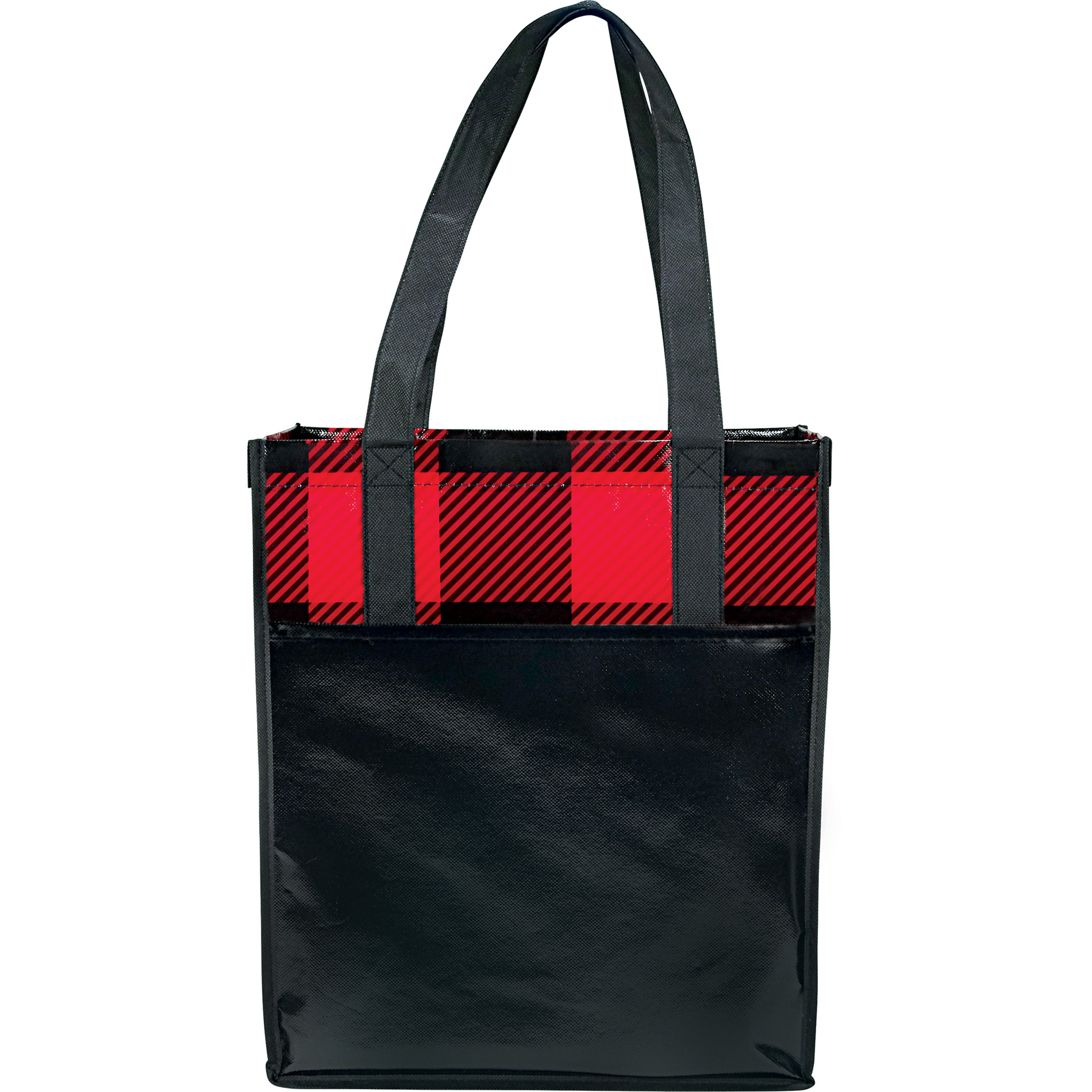 LEEDS 2160-20 - Buffalo Plaid Laminated Grocery Tote