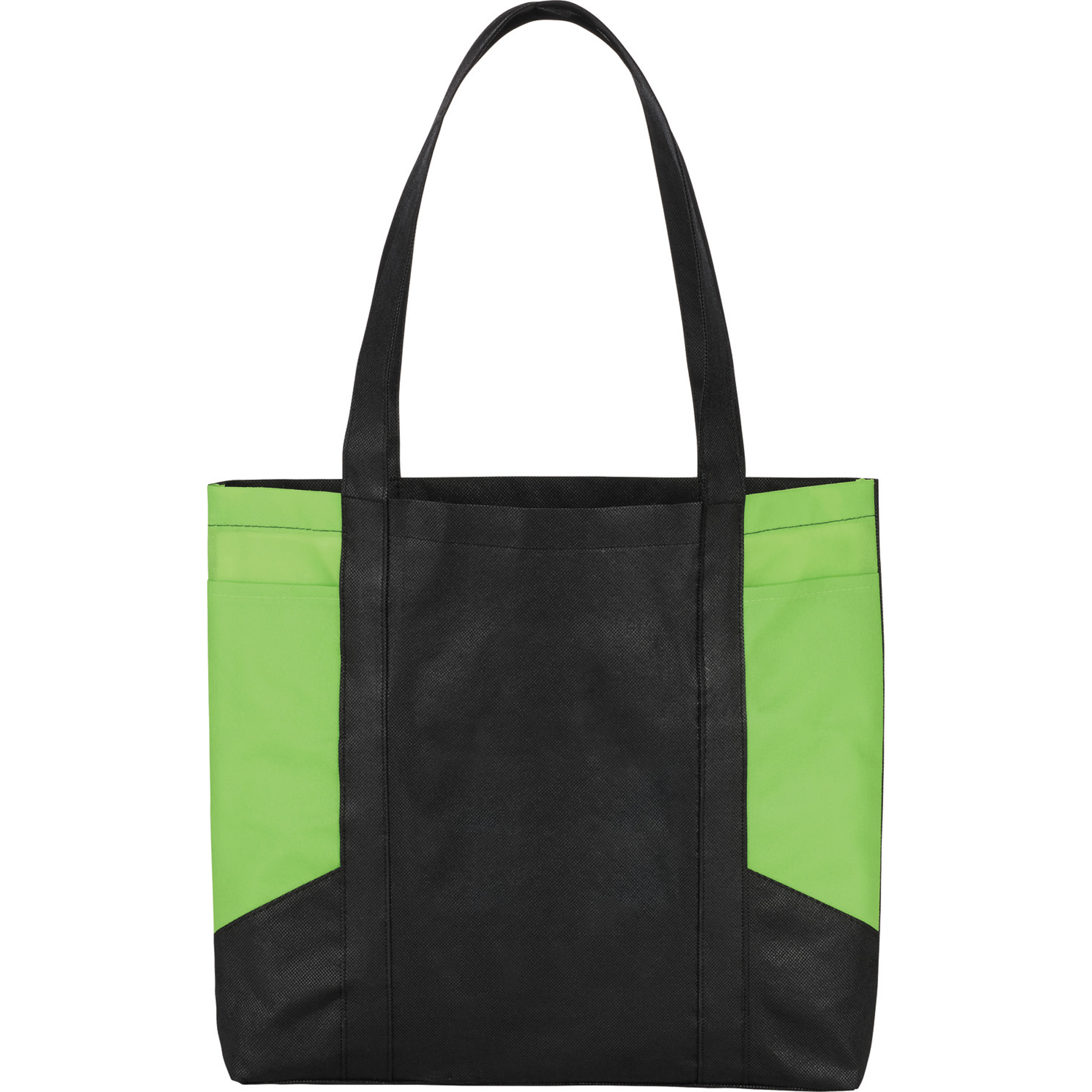 LEEDS 2150-57 - Color Panel Non-Woven Tote