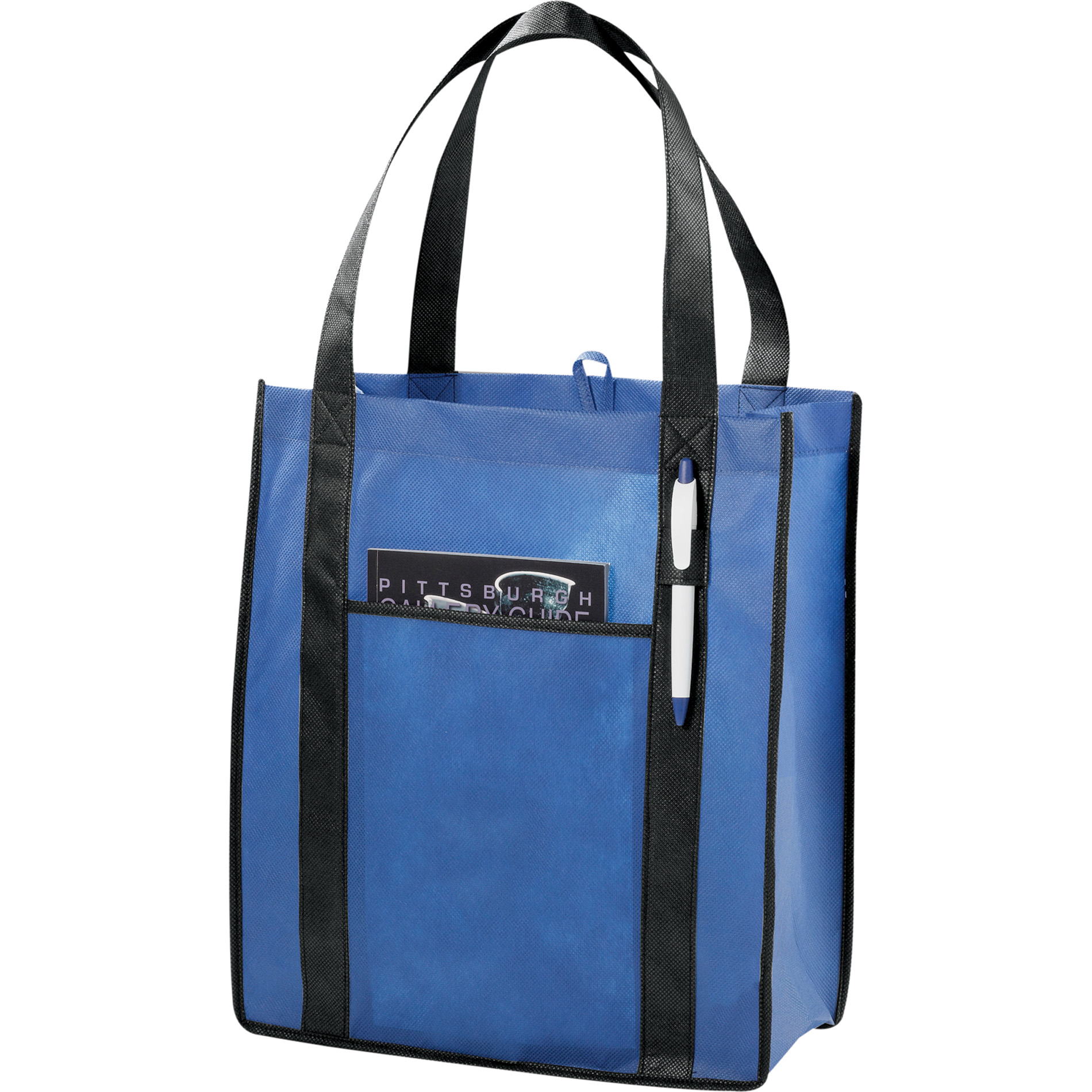 LEEDS 2150-44 - Contrast Non-Woven Carry-All Tote