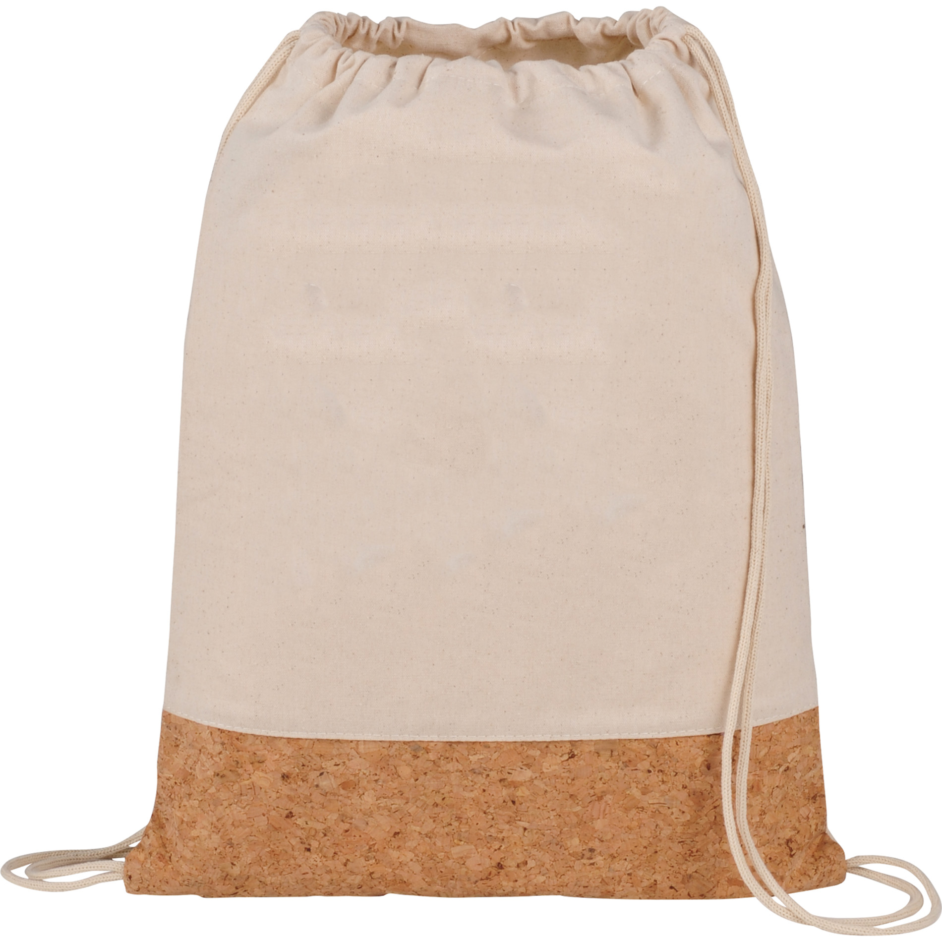 LEEDS 3005-19 - Cotton and Cork Drawstring Bag