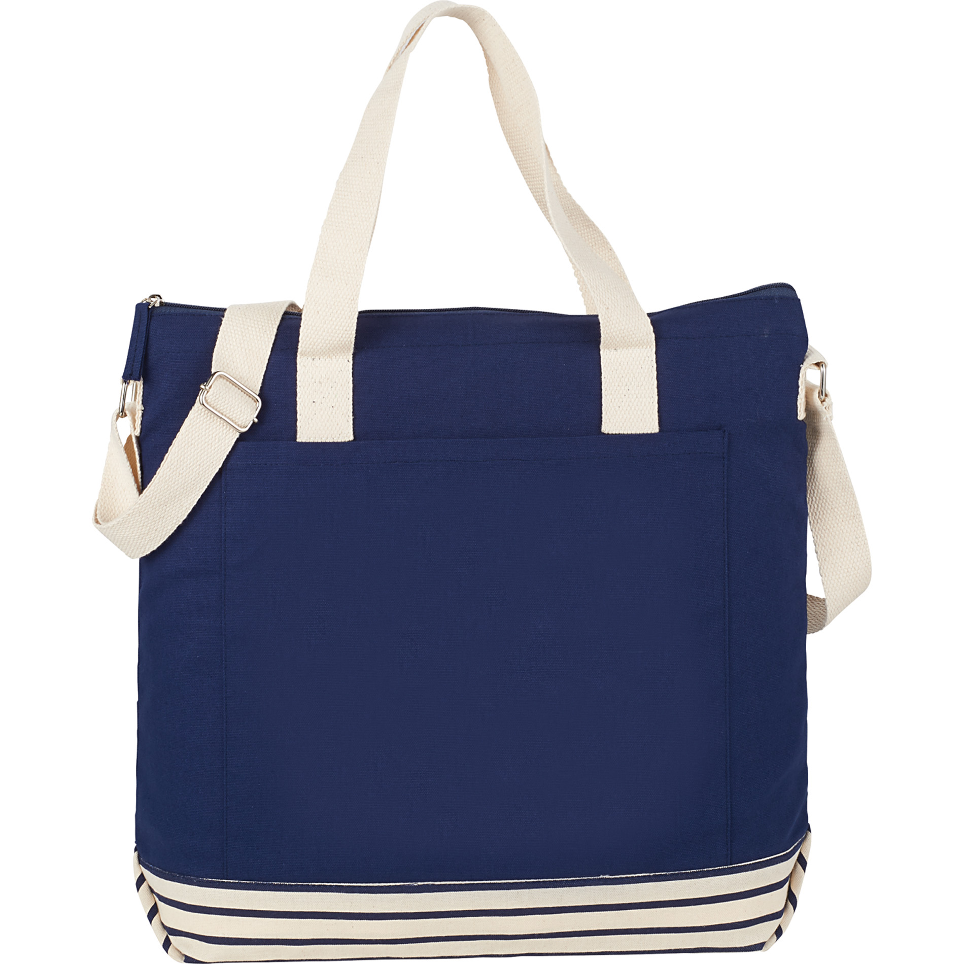 LEEDS 7900-86 - 10 oz. Cotton Canvas Striped Tall Beach Tote