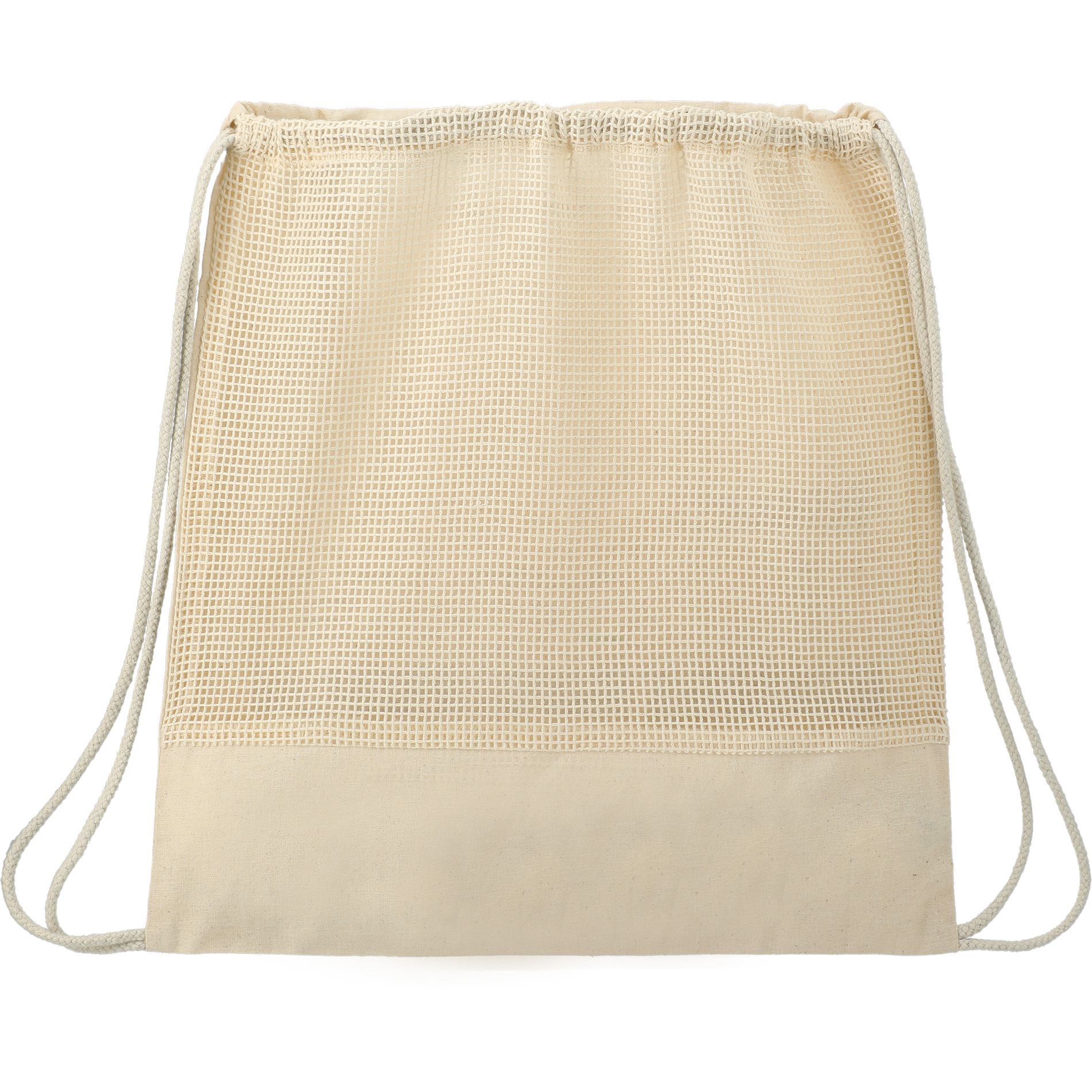 LEEDS 3005-71 - Cotton Mesh Drawstring Bag
