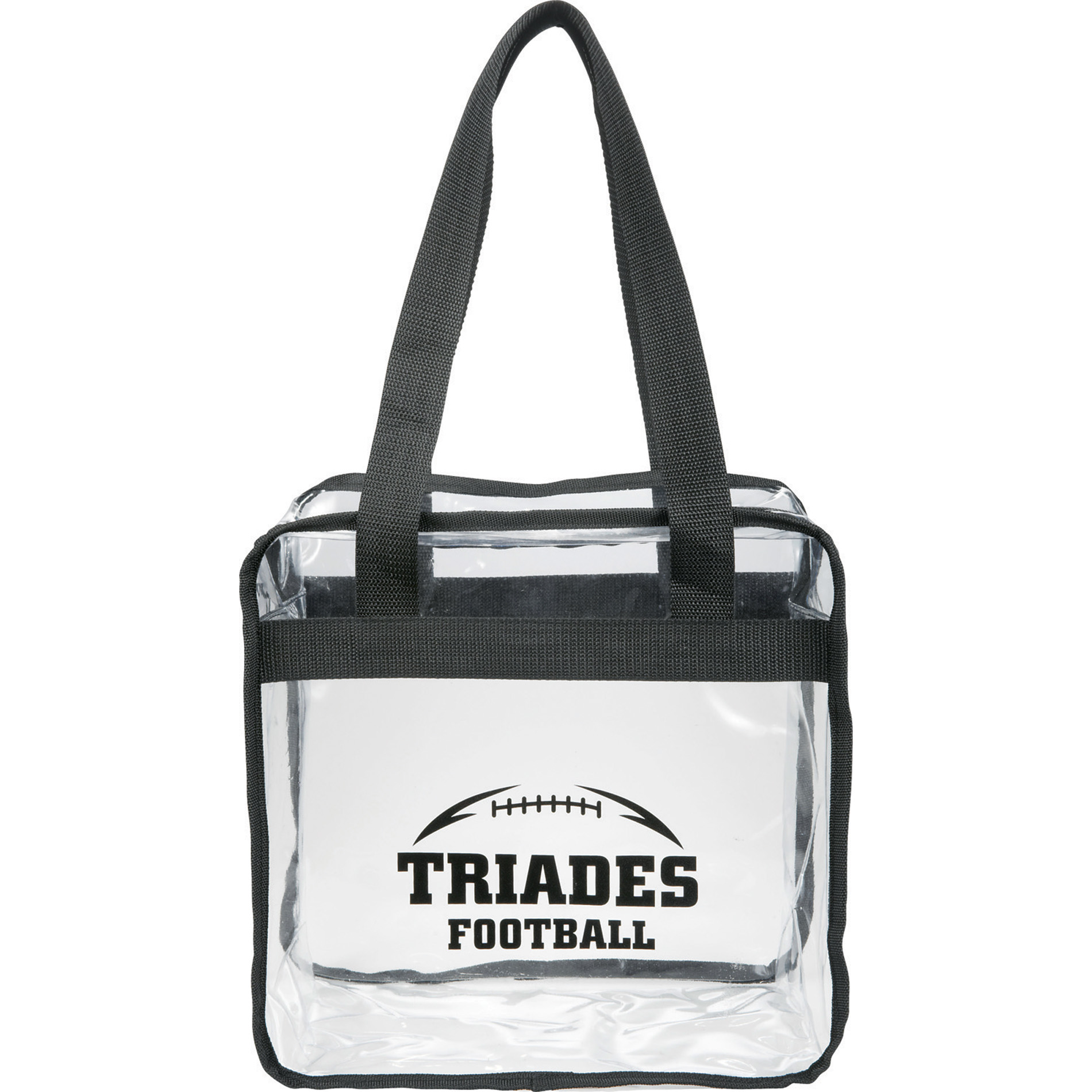 LEEDS 2301-42 - Game Day Clear Zippered Safety Tote