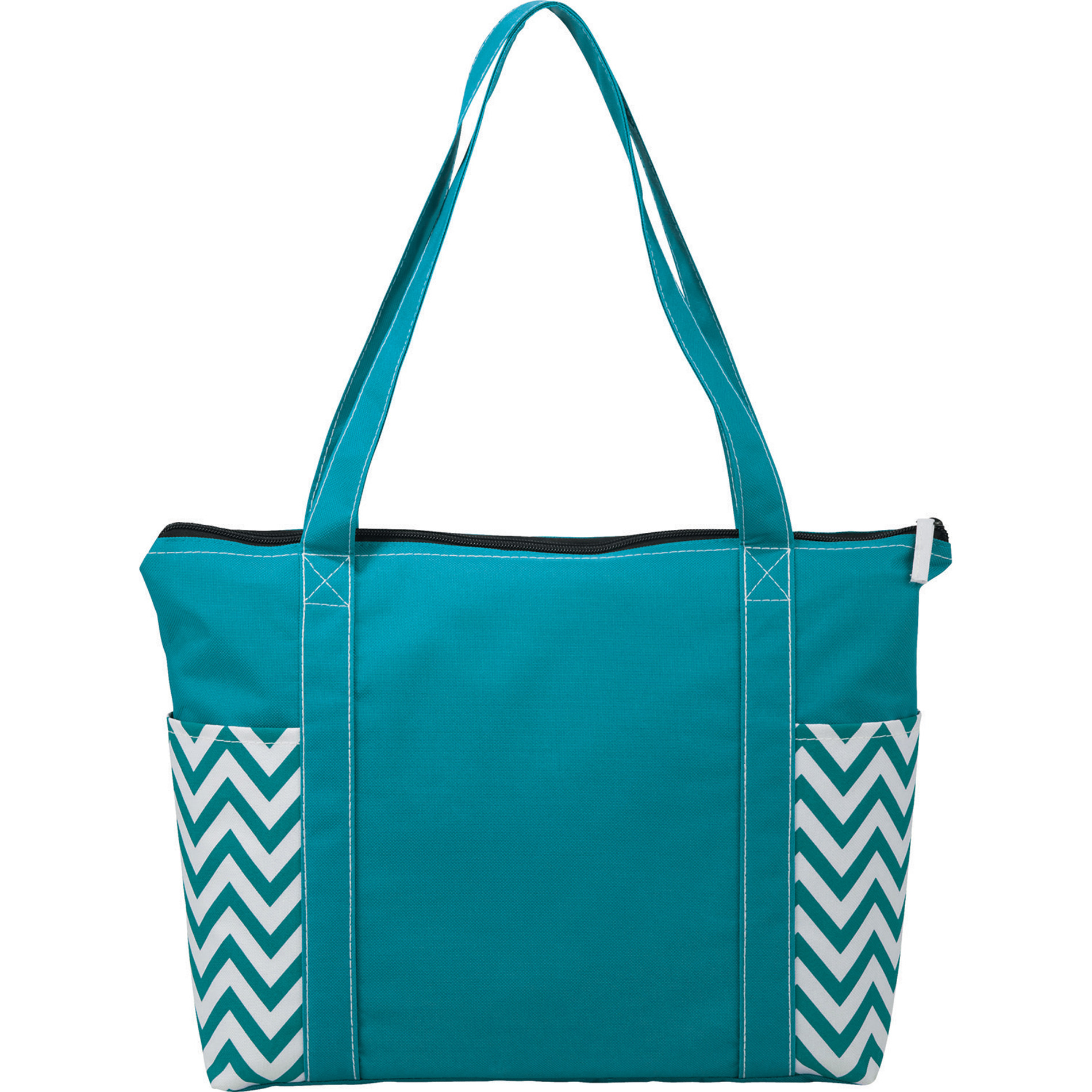LEEDS 2301-24 - Geometric Zippered Business Tote