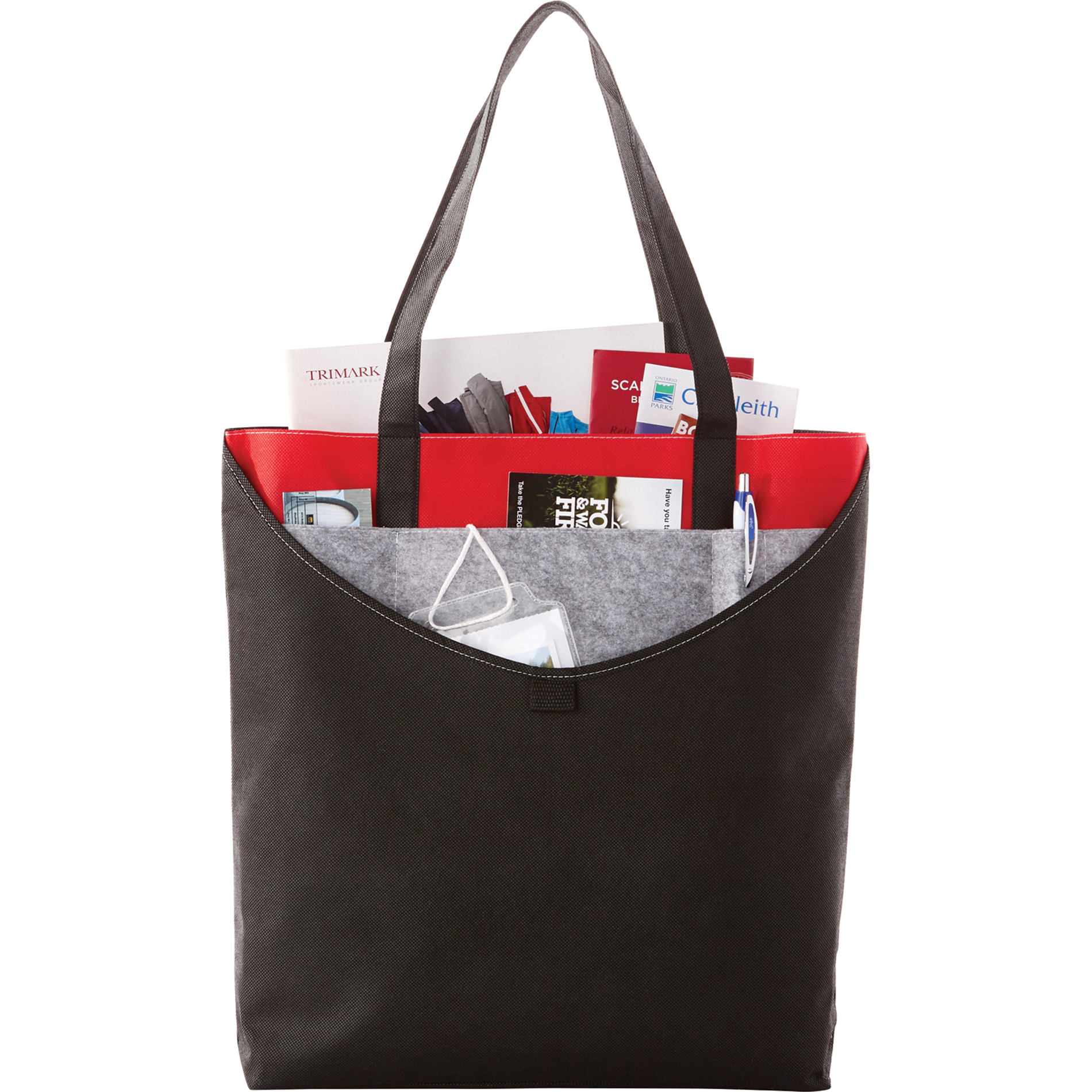 LEEDS 2150-18 - Layer Pocket Non-Woven Convention Tote