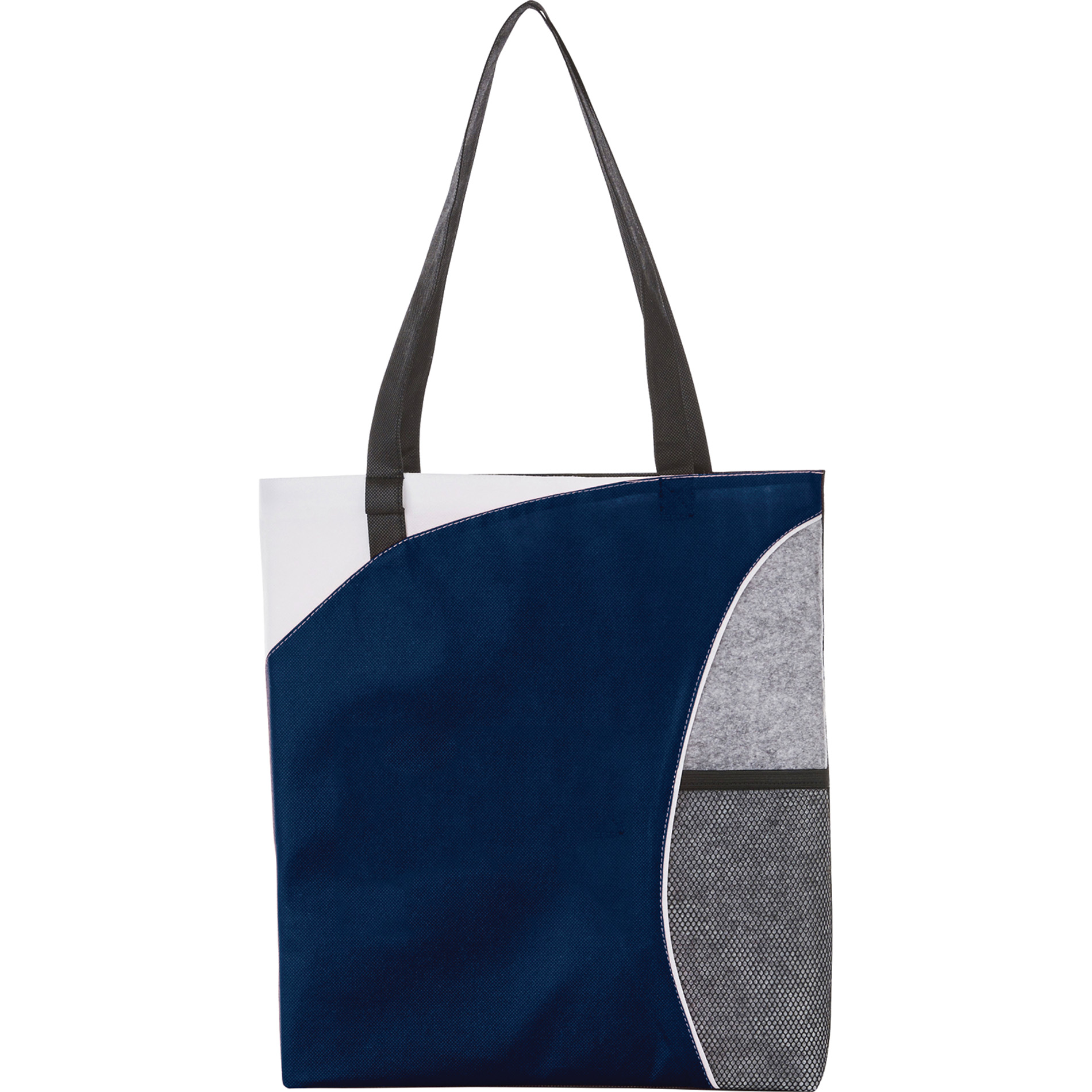 LEEDS 2150-16 - Mesh Pocket Non-Woven Convention Tote
