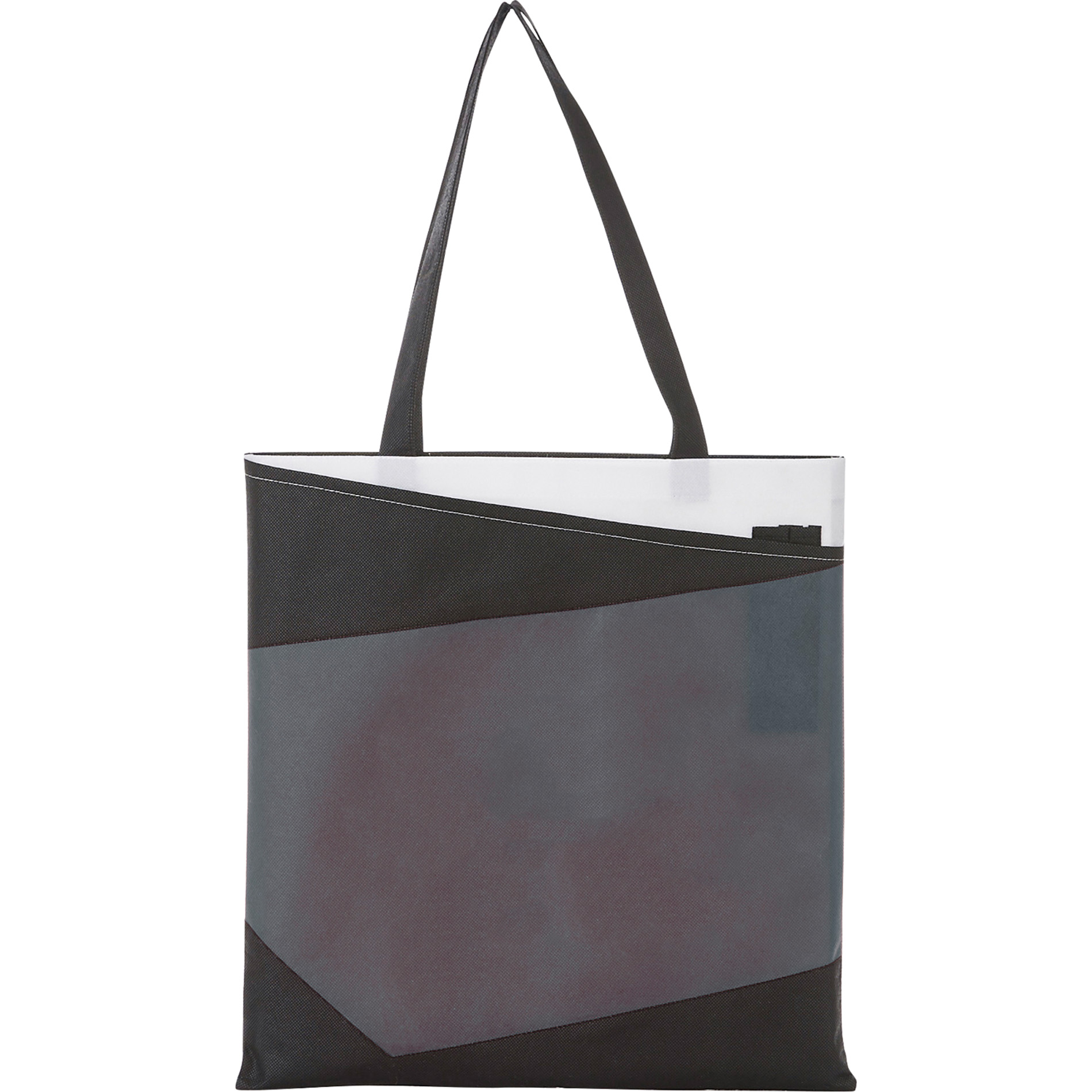 LEEDS 2150-19 - Color Angle Non-Woven Convention Tote