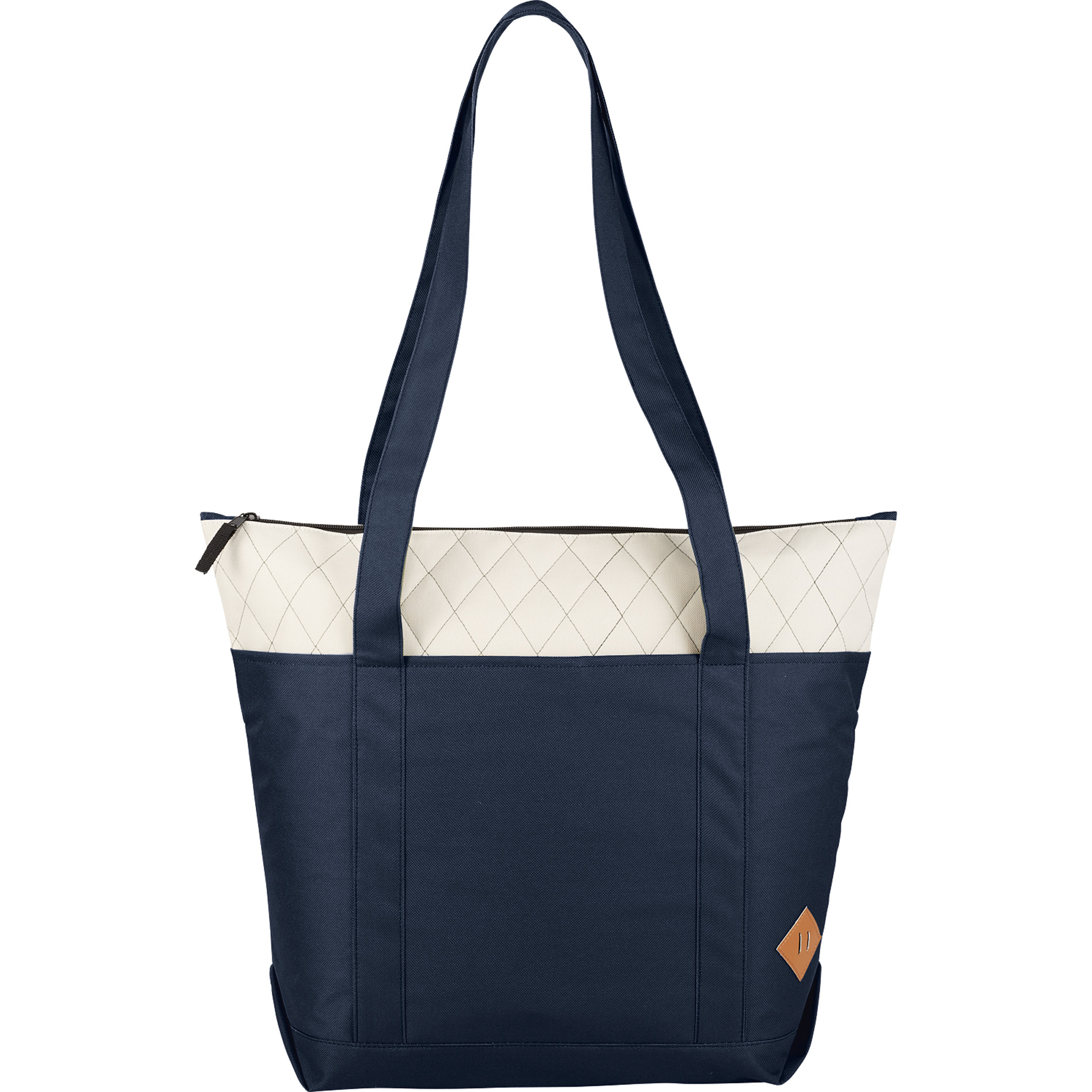 LEEDS 2301-33 - Quilted Zippered Boat Tote