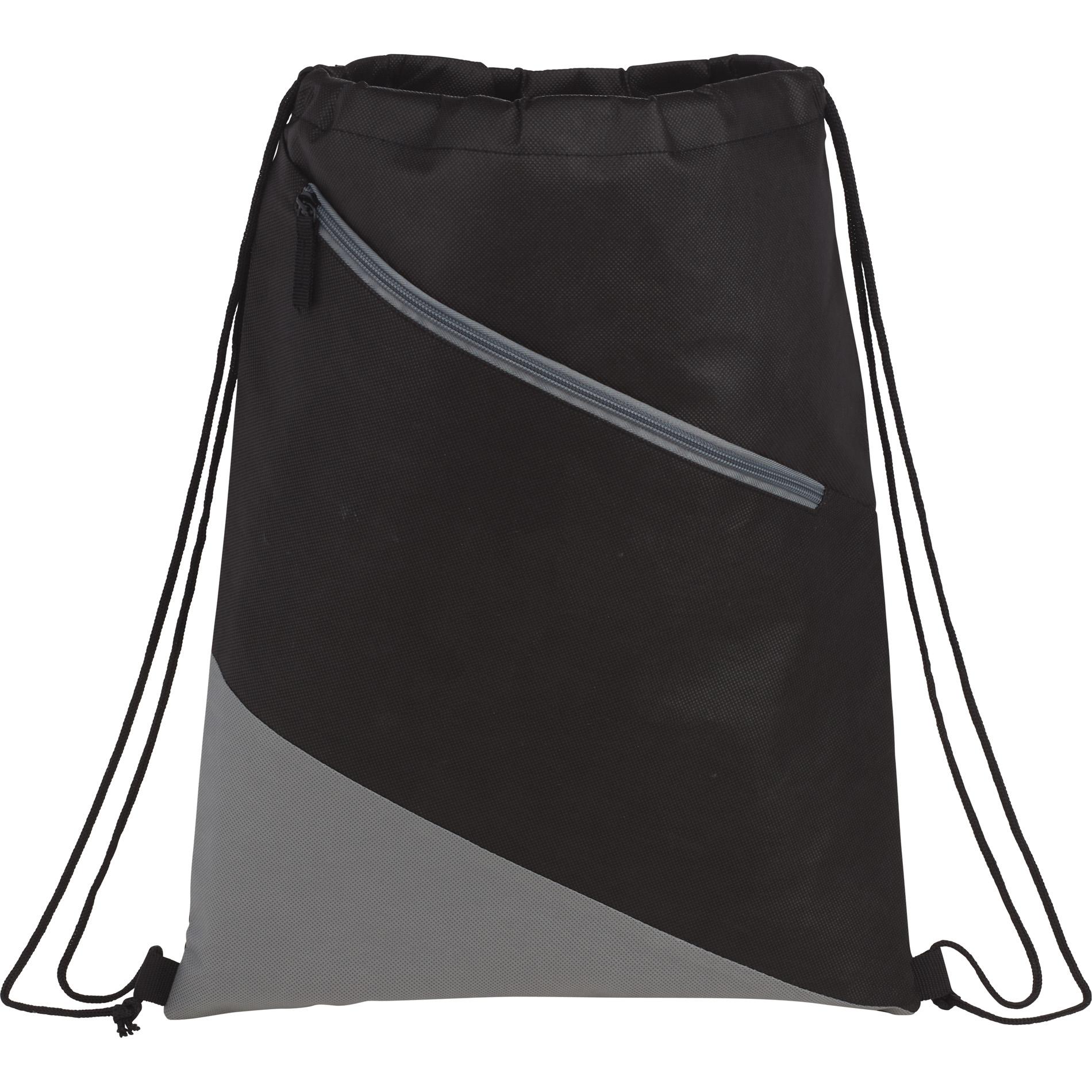 LEEDS 3005-25 - Slanted Non-Woven Drawstring Bag