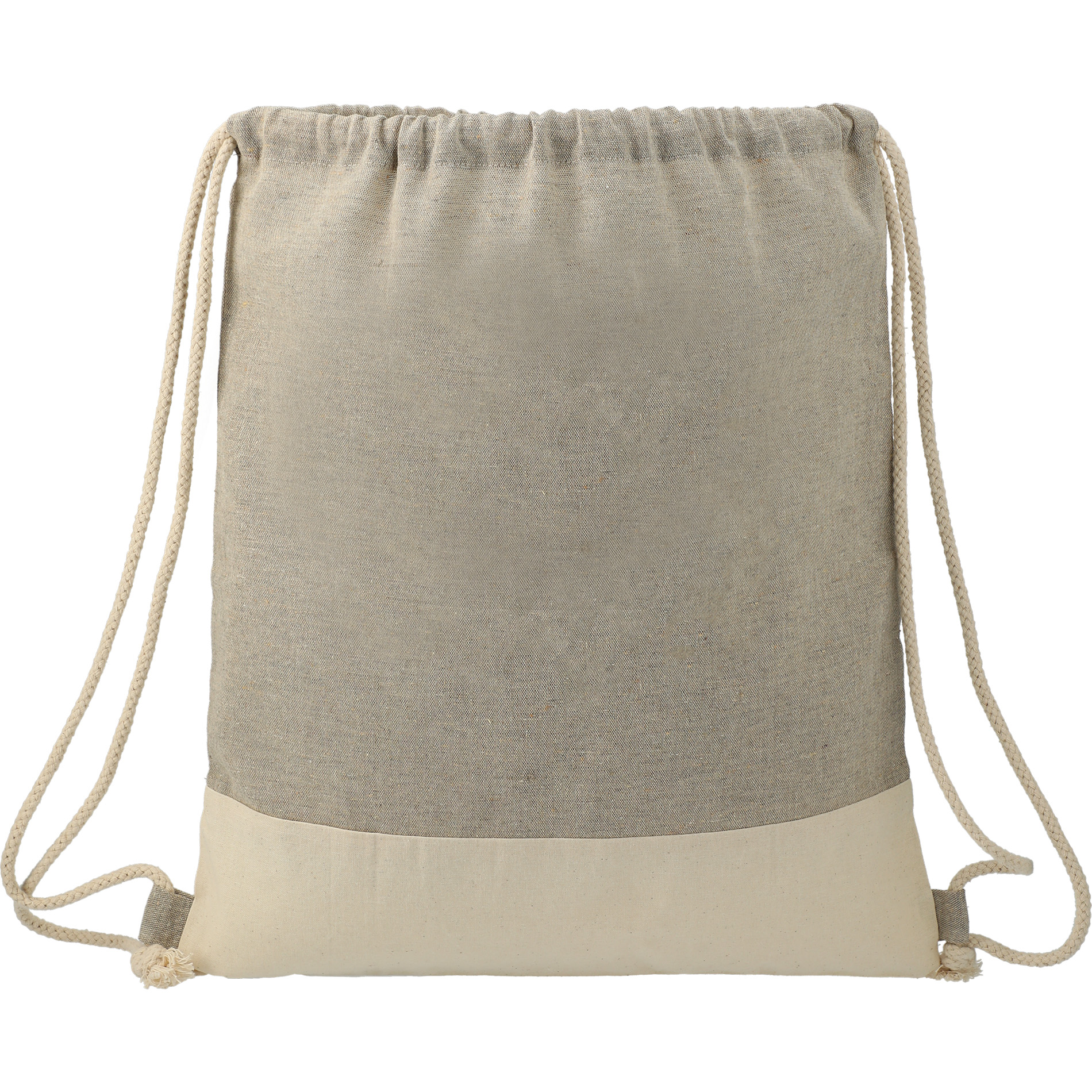LEEDS 3005-73 - Split Recycled Cotton Drawstring Bag