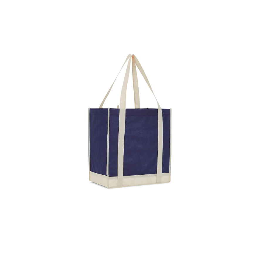 LEEDS 2150-07 - Two-Tone Non-Woven Little Grocery Tote