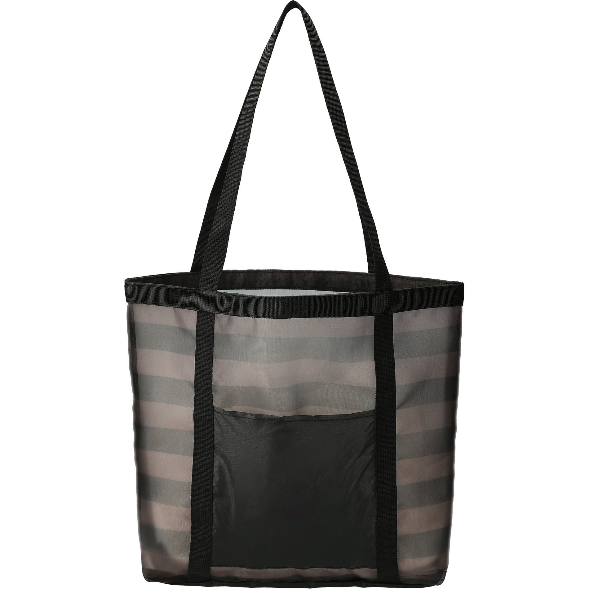 LEEDS 2160-73 - Two-Tone Mesh Shopper Tote