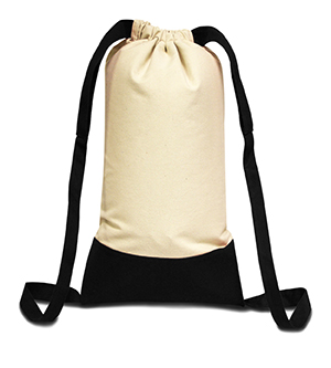 Liberty Bags 8876 - Cotton Canvas Contrast Bottom Drawstring ...