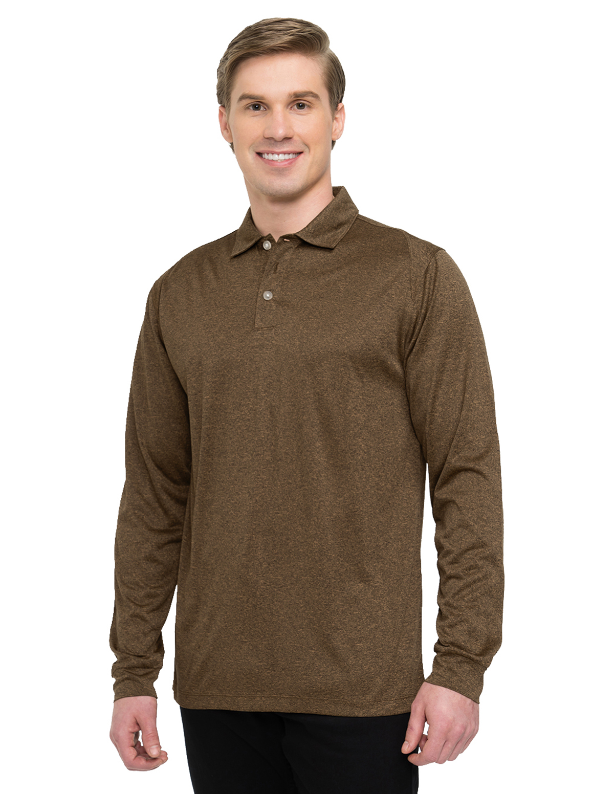 Tri-Mountain Gold K209LS - Gallant Long Sleeve Men's Polo