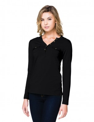 Lilac Bloom LB144 - Women's long sleeve open henley