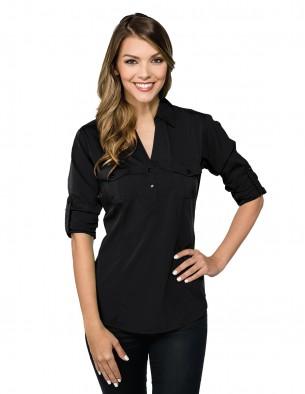 Lilac Bloom LB756 女士长袖V领休闲商务T恤