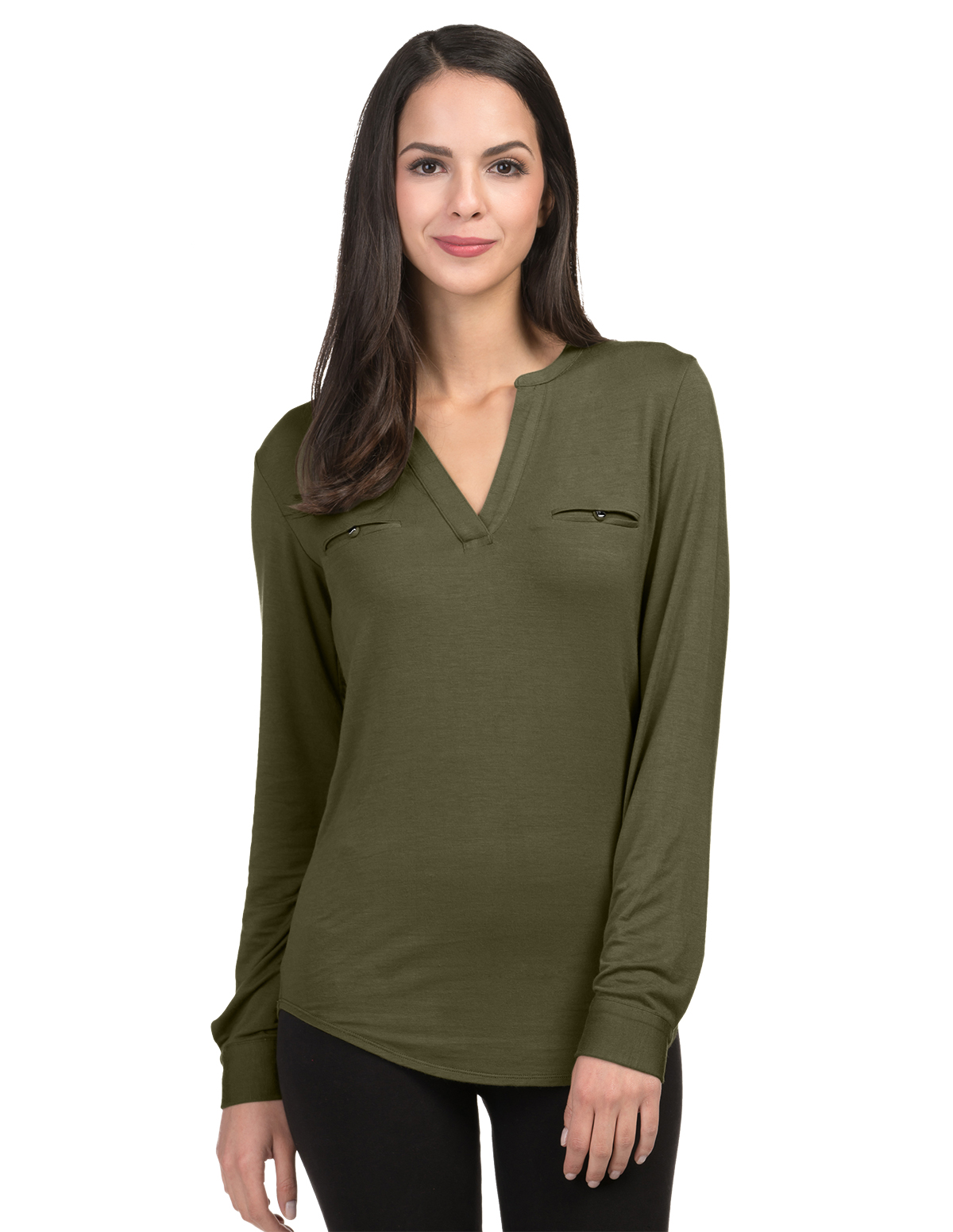 Alexandra Women's Spilt Neck Top $20