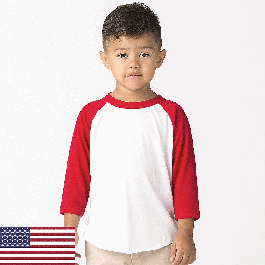 Los Angeles Apparel FF1053 - Toddler Raglan