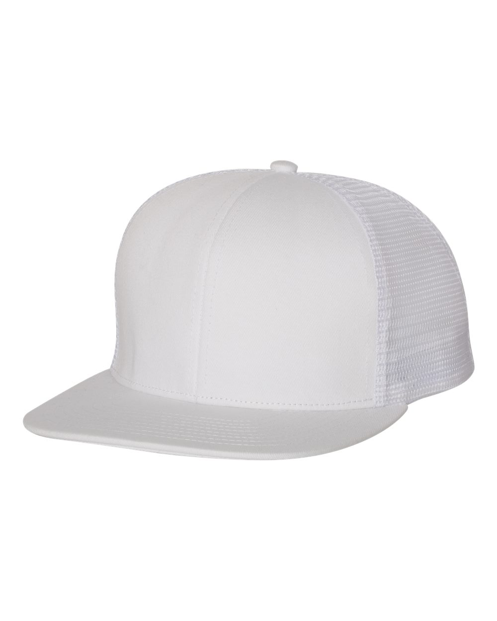 Mega Cap 6997B - Flat Bill Six-Panel Trucker Cap