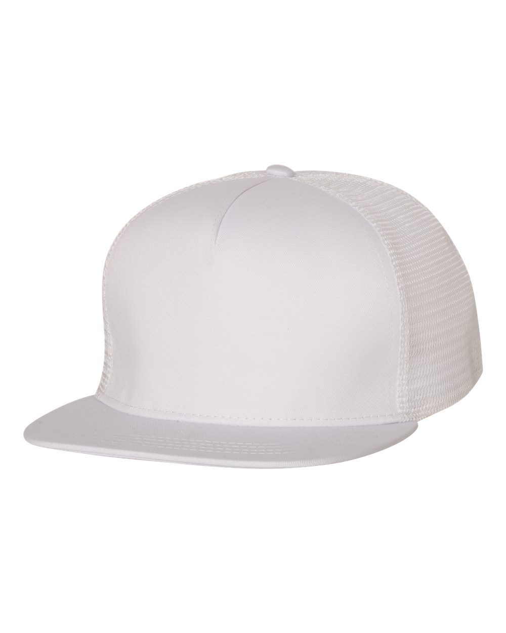 Mega Cap 6997C - Flat Bill Five-Panel Trucker Cap