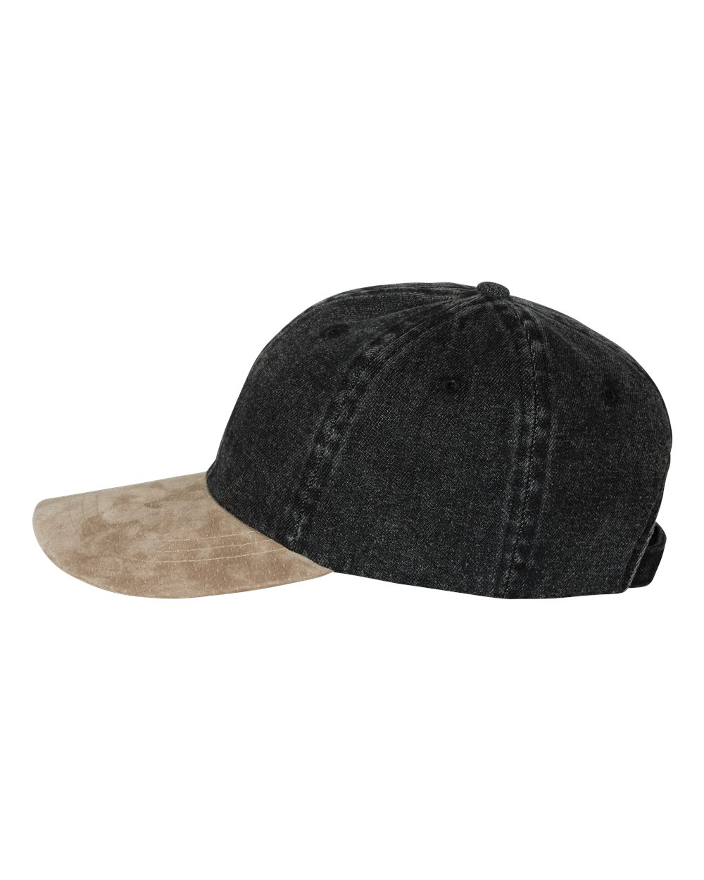 Mega Cap 7611 - Washed Denim With Suede Bill Cap