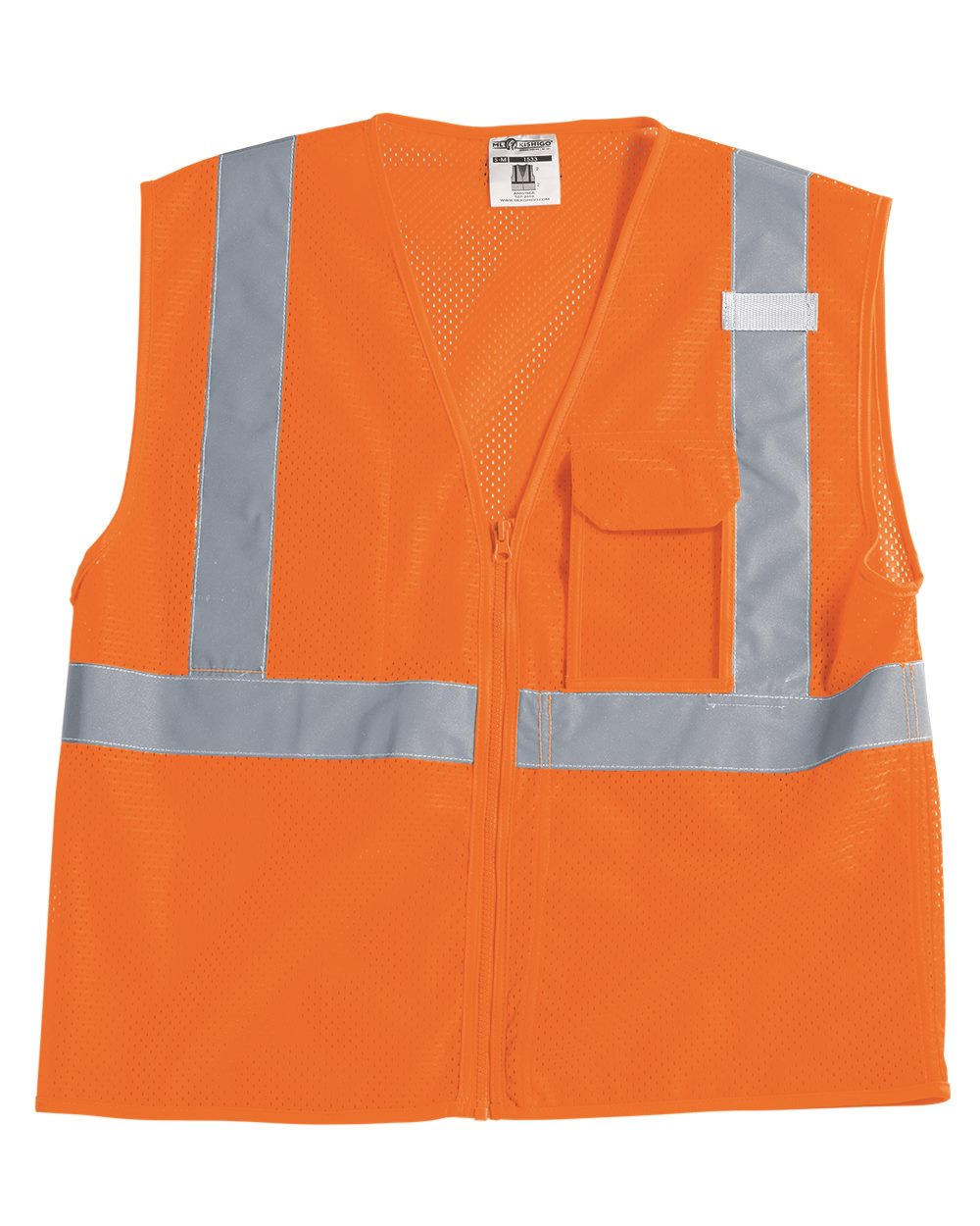 ML Kishigo 1532-1533 - Clear ID Vest with Zipper Closure