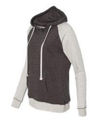 MV Sport W17127 - Women's Reese Raglan Hooded Pullover Sweatshirt
