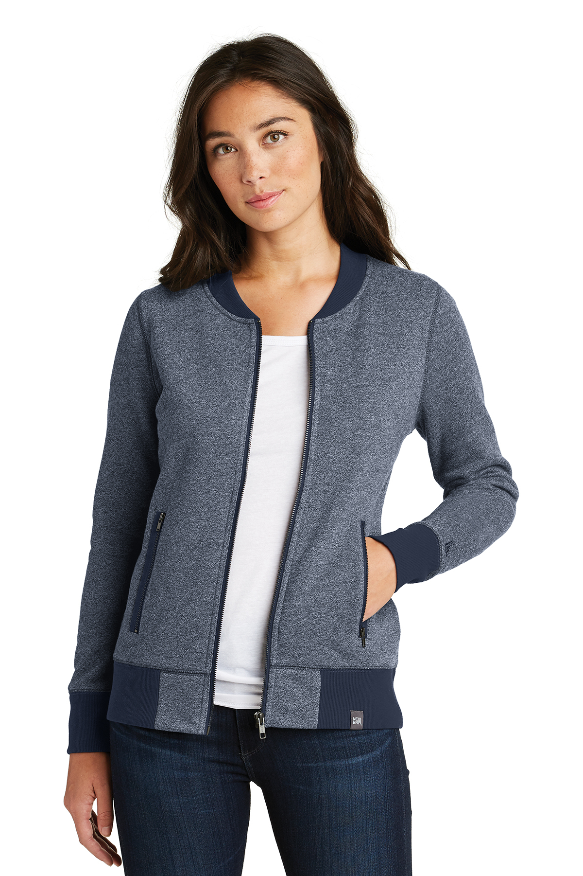 New Era LNEA503 - Ladies French Terry Baseball Full Zip Jacket