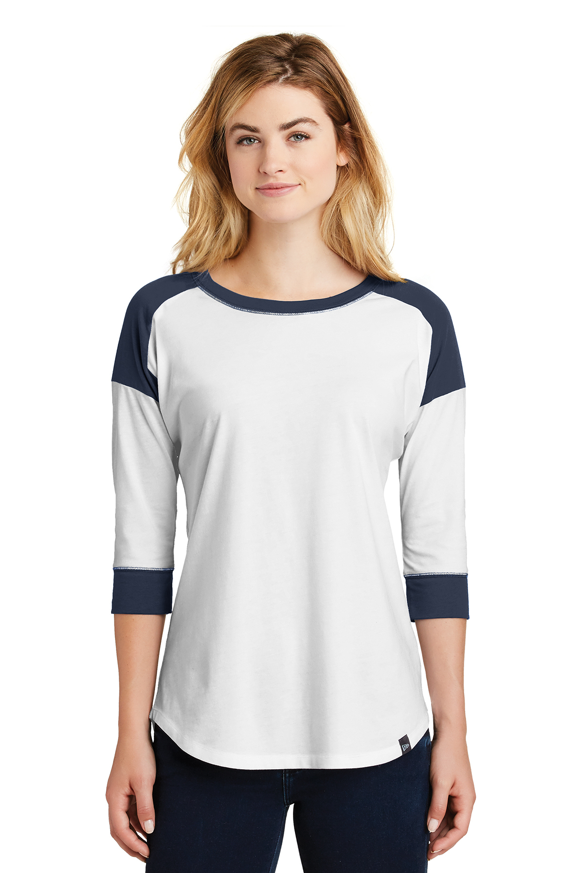 New Era LNEA104 - Ladies Heritage Blend 3/4 Sleeve Baseball Raglan Tee