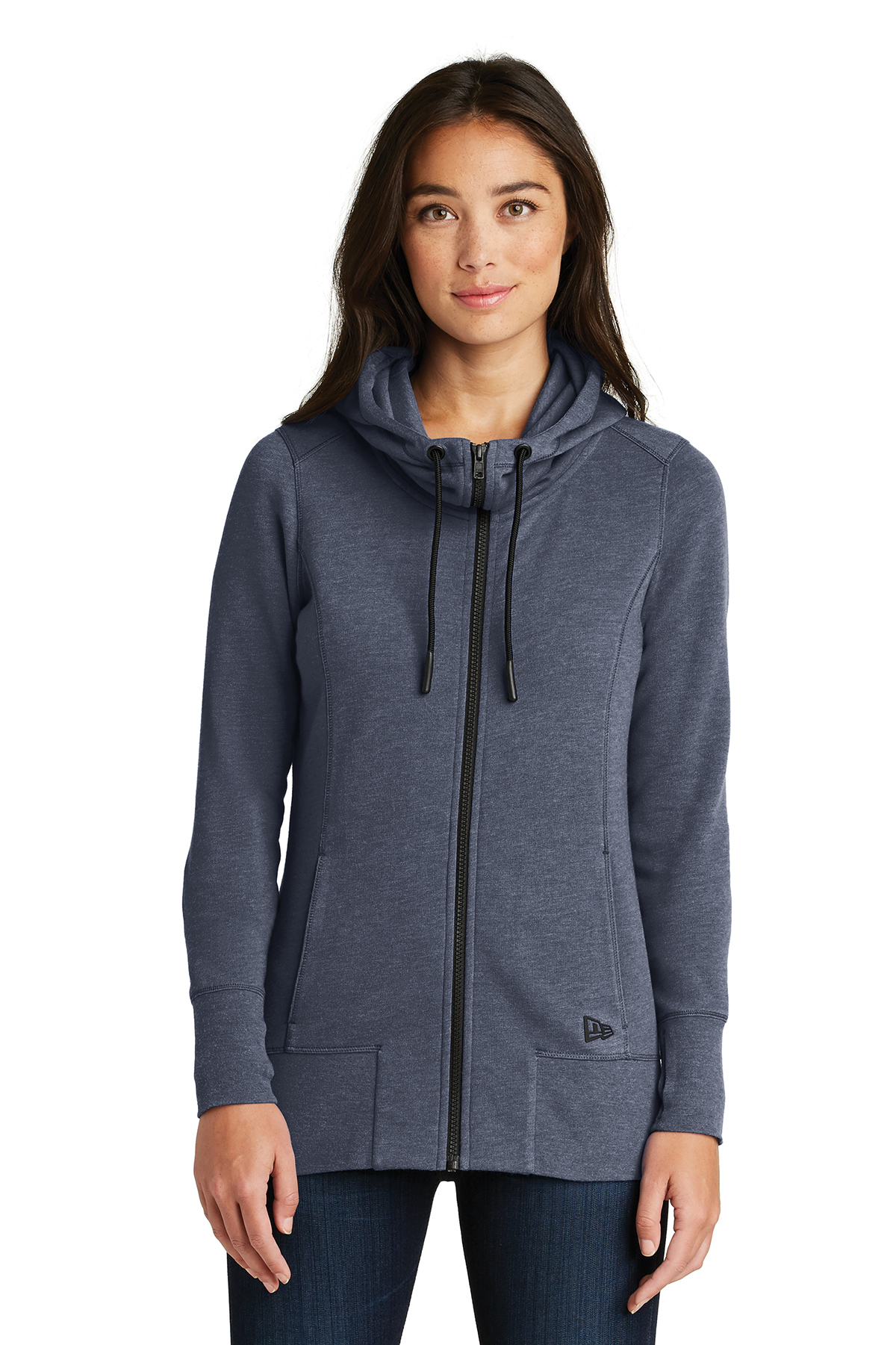 New Era LNEA511 - Ladies Tri-Blend Fleece Full Zip Hoodie