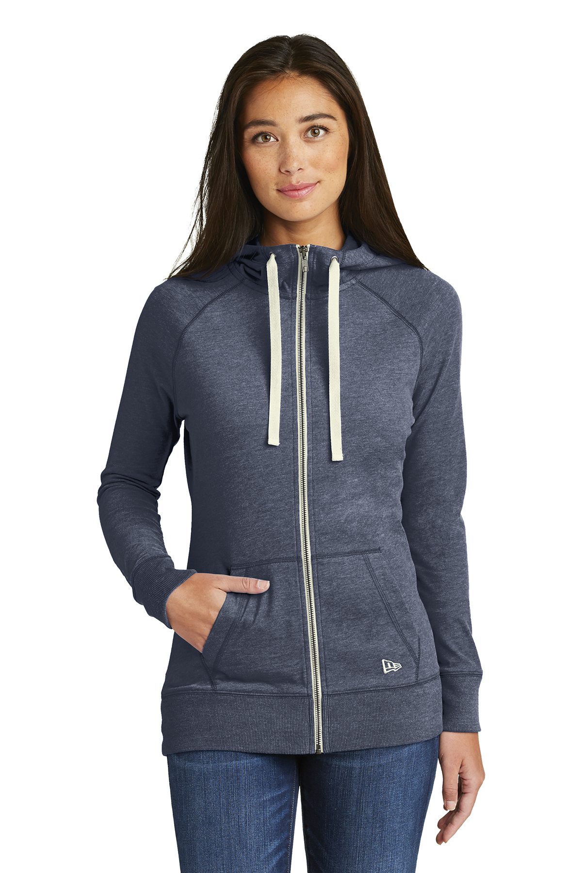 New Era LNEA122 - Ladies Sueded Cotton Full Zip Hoodie