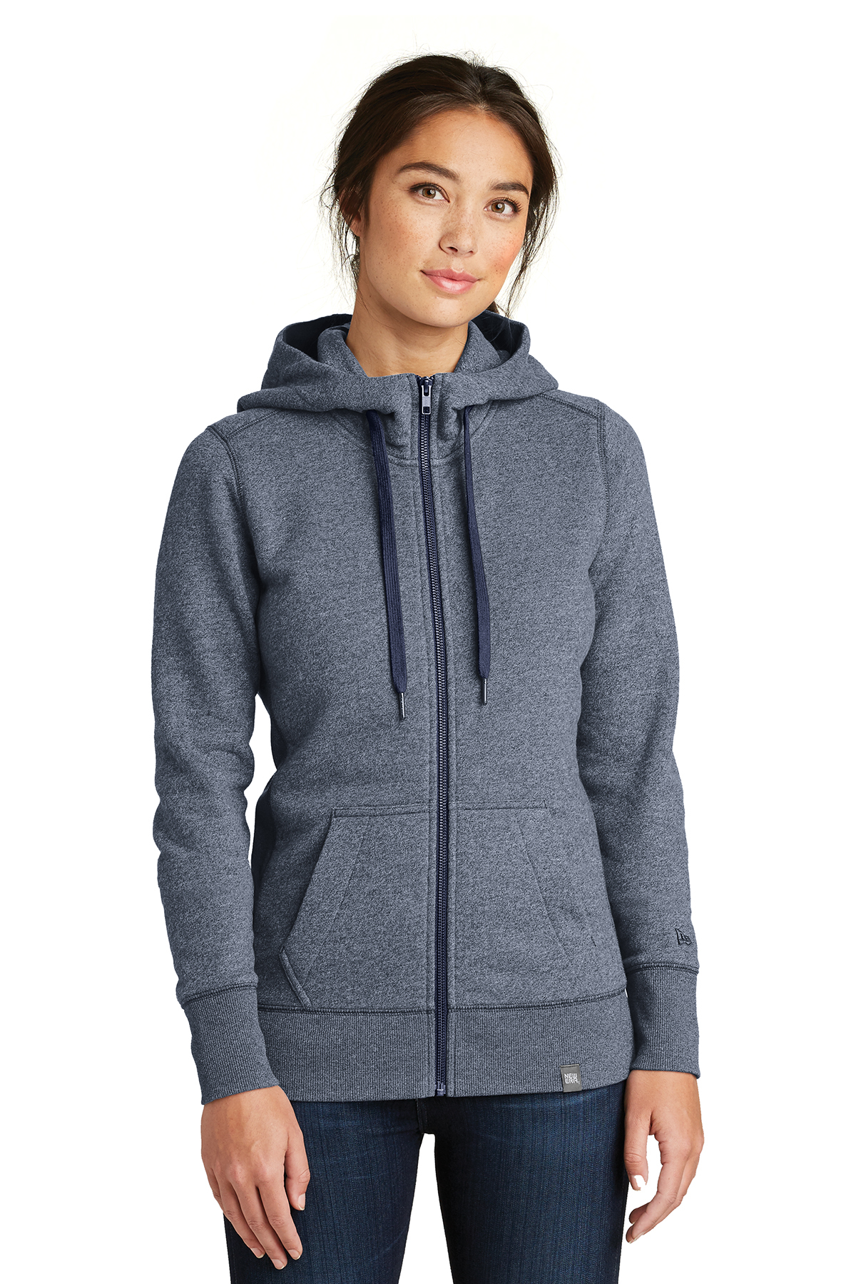 New Era LNEA502 - Ladies French Terry Full Zip Hoodie