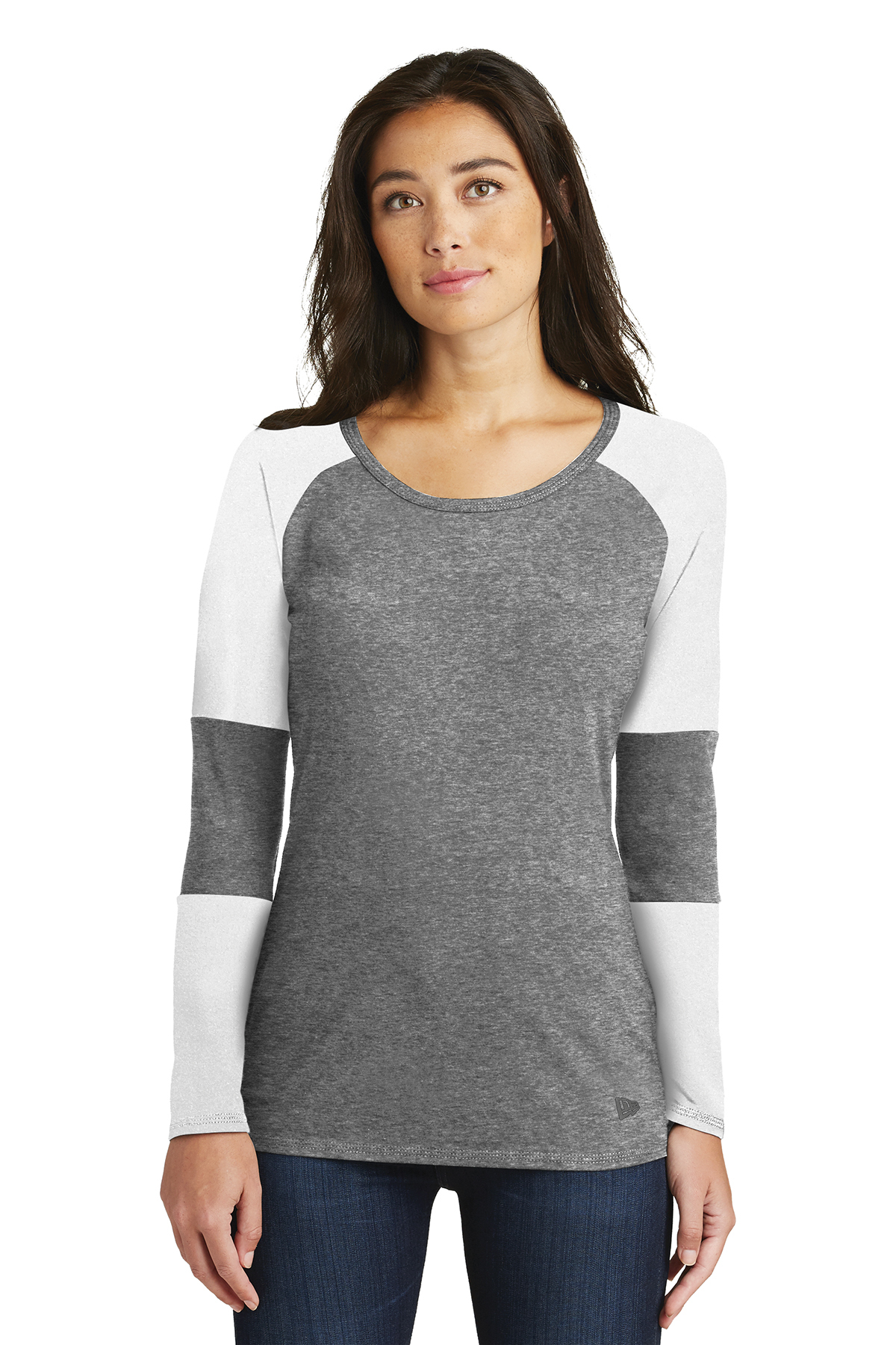 New Era LNEA132 - Ladies Tri-Blend Performance Baseball Tee