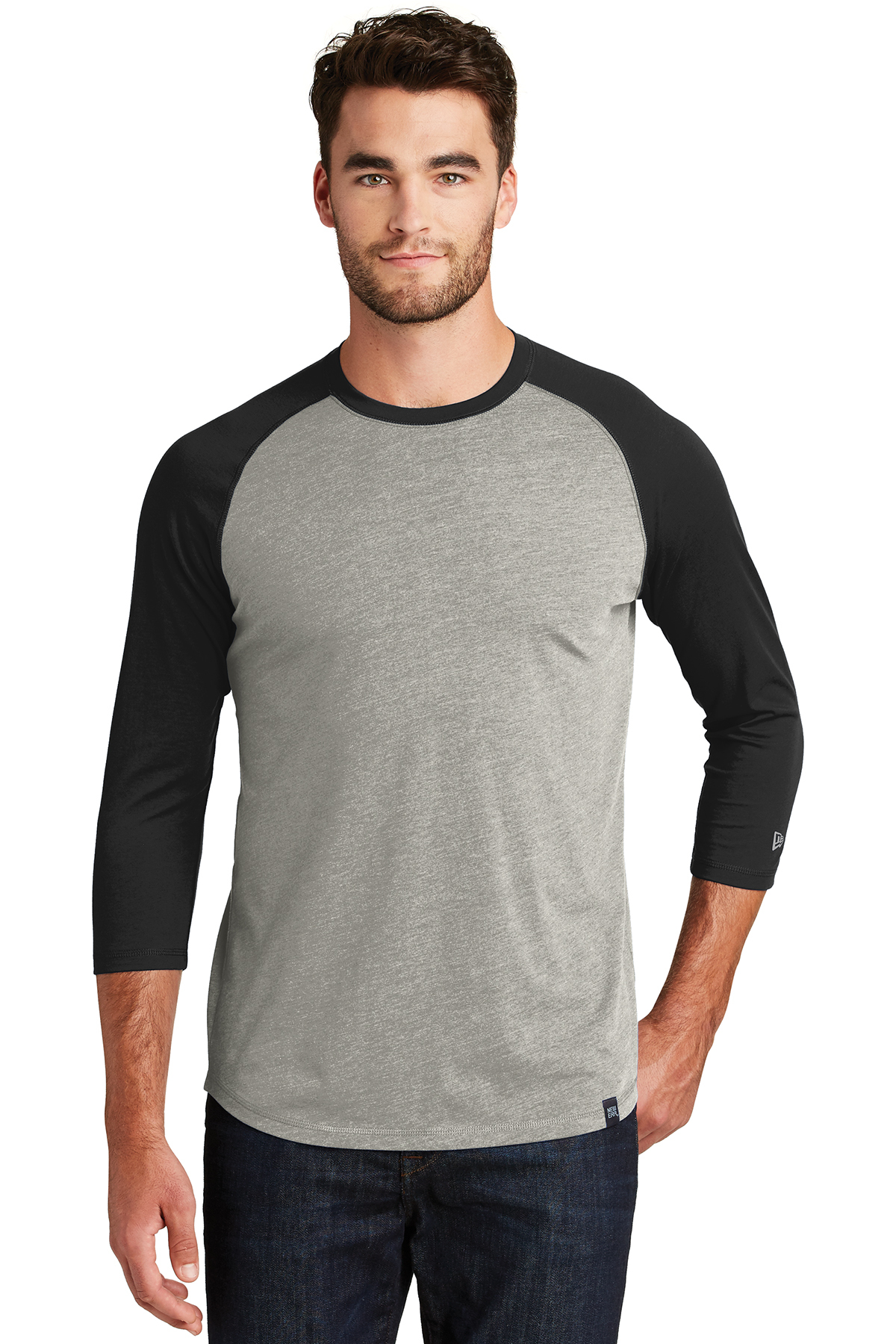New Era NEA104 - Men's Heritage Blend 3/4 Sleeve Baseball ...