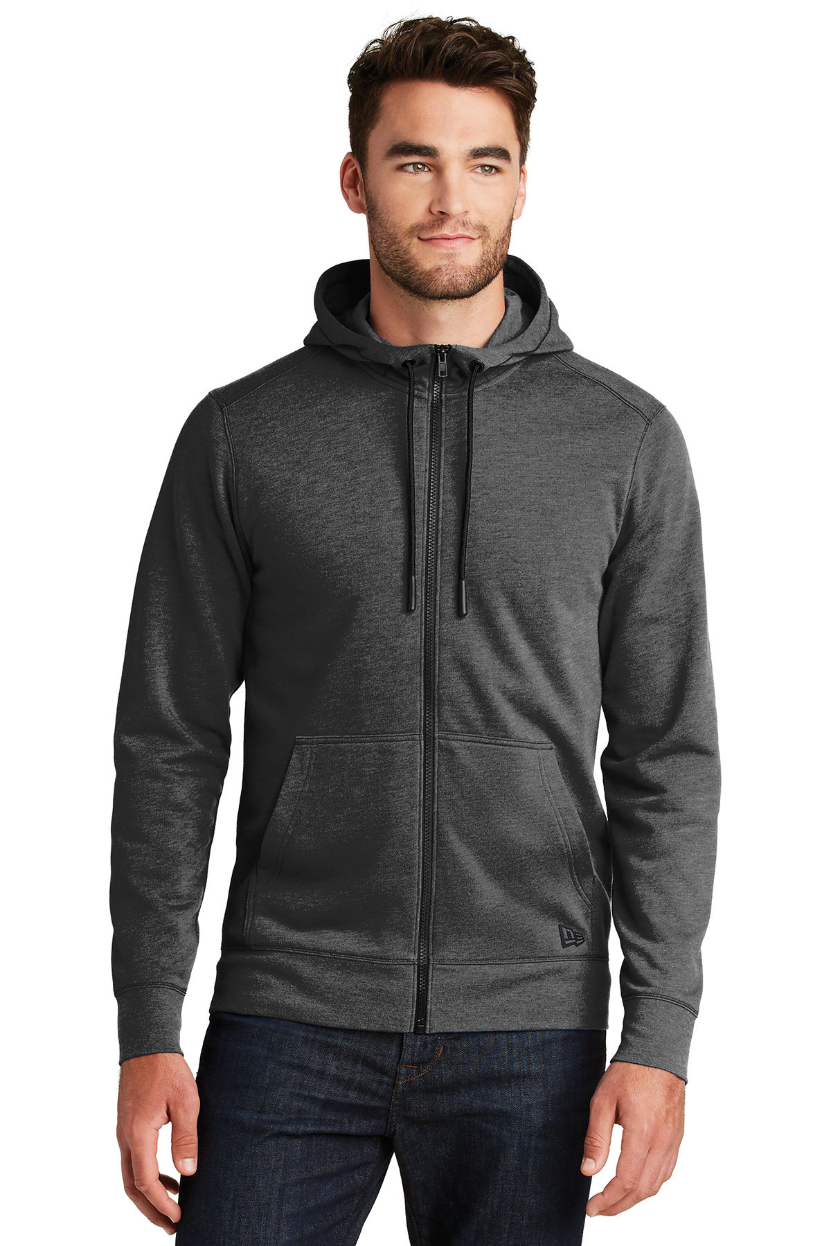 New Era NEA511 - Men's Tri-Blend Fleece Full Zip Hoodie