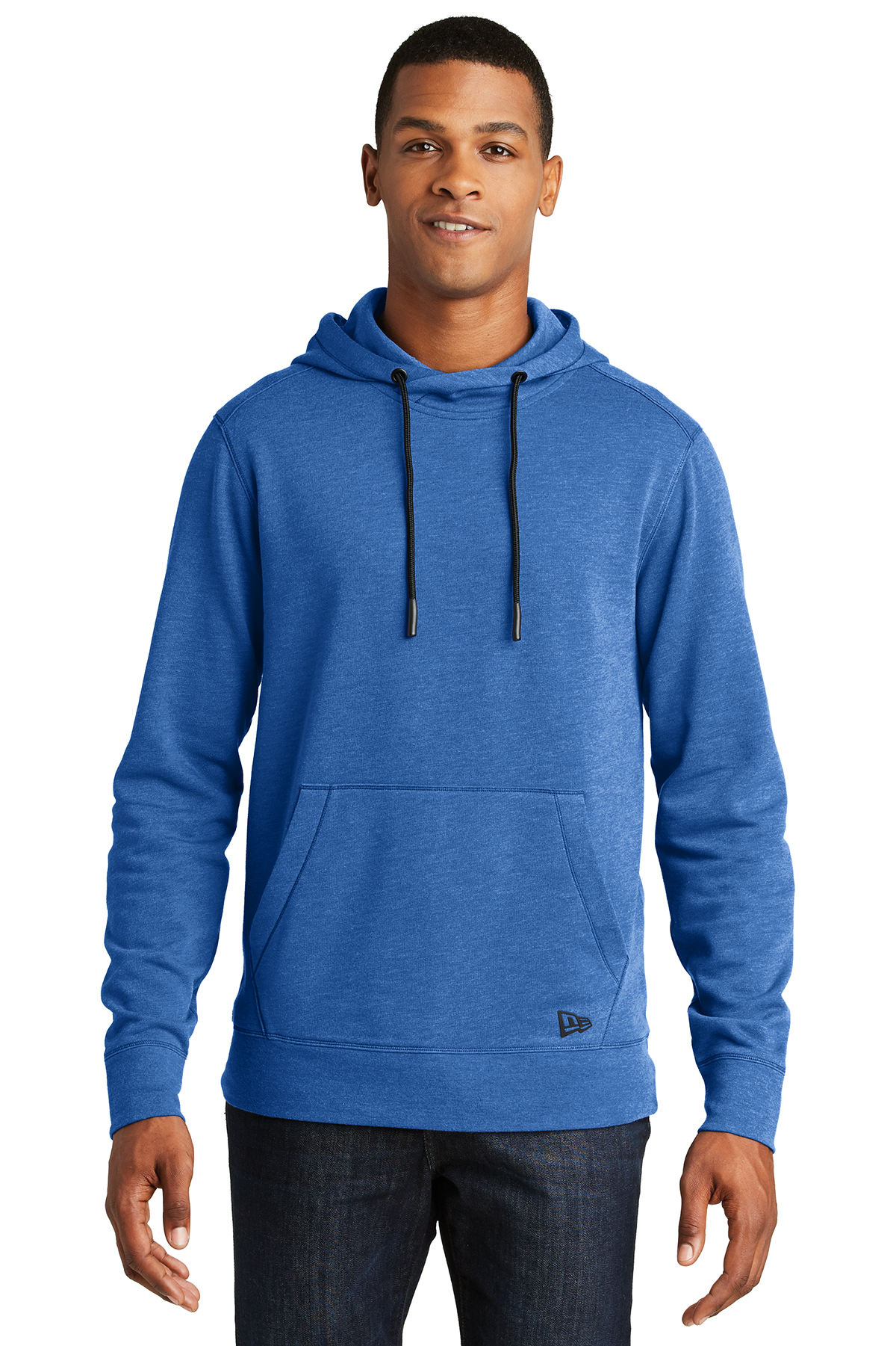 New Era NEA510 - Men's Tri-Blend Fleece Pullover Hoodie