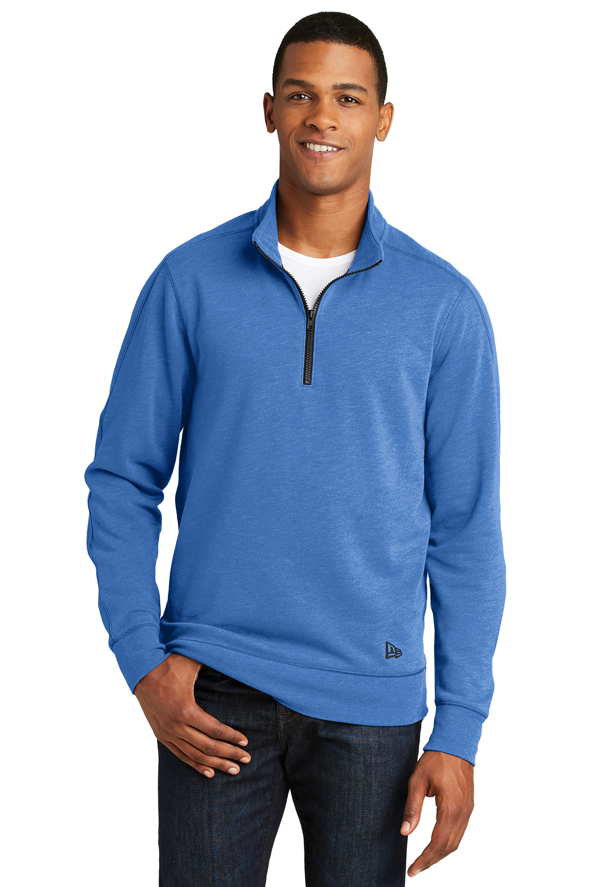 New Era NEA512 - Men's Tri-Blend Fleece 1/4 Zip Pullover