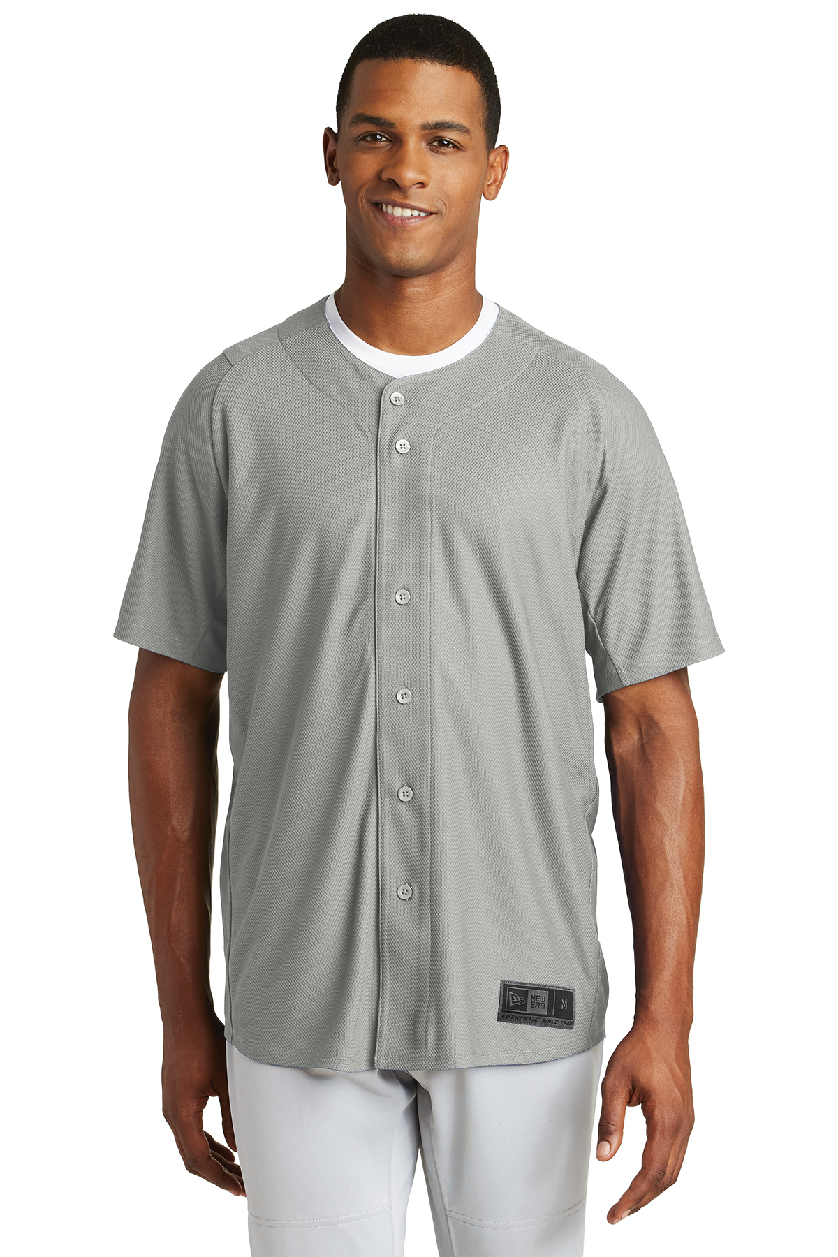 New Era NEA220 - Men's Diamond Era Full Button Jersey