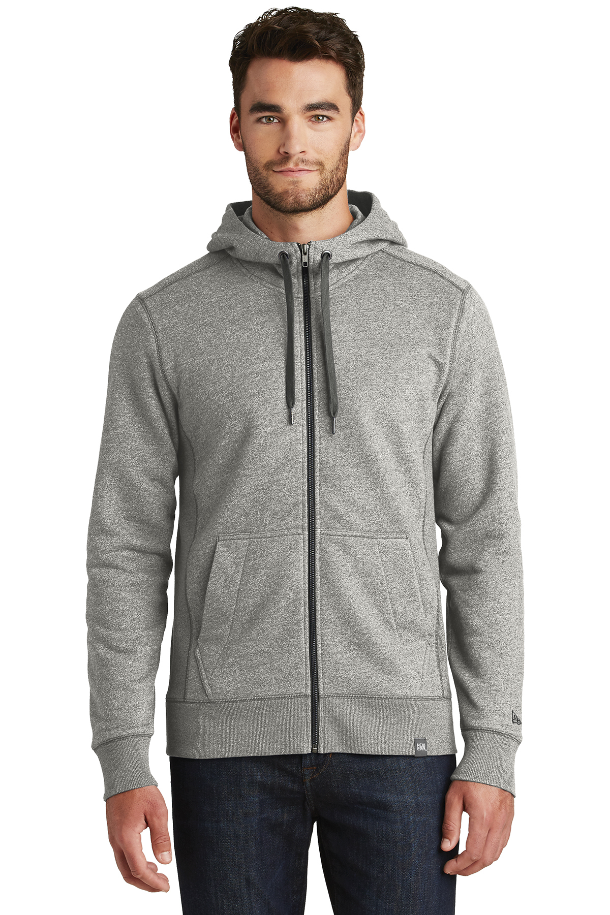 New Era NEA502 - Men's French Terry Full Zip Hoodie