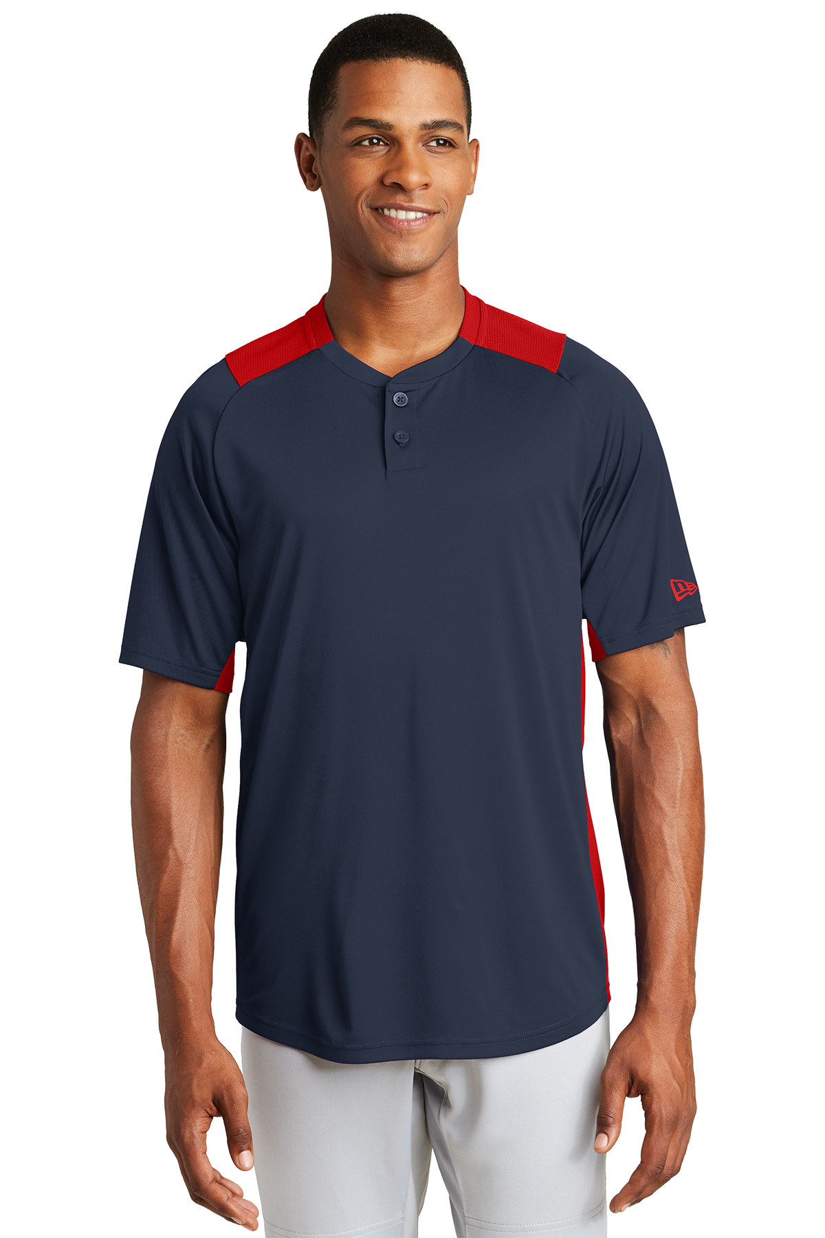 New Era NEA221 - Men's Diamond Era 2-Button Jersey