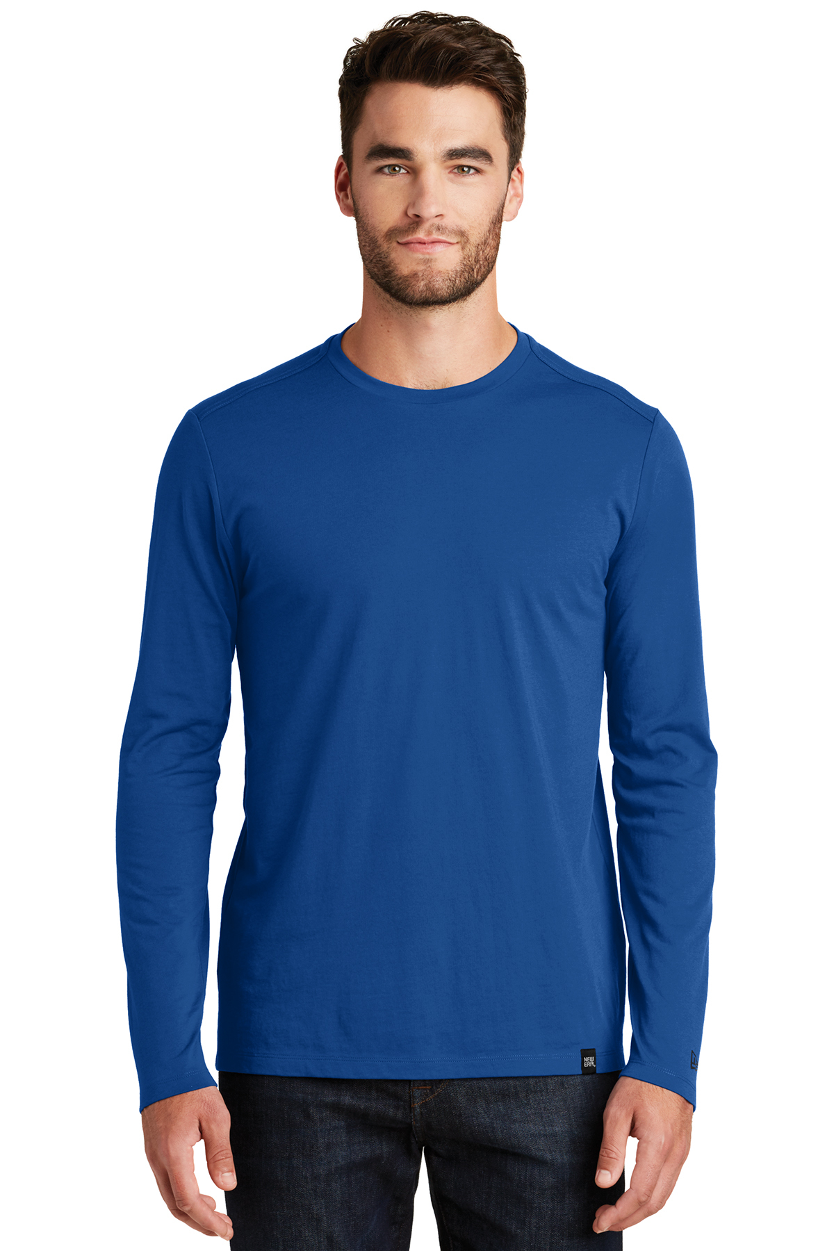 New Era NEA102 - Men's Heritage Blend Long Sleeve Crew ...