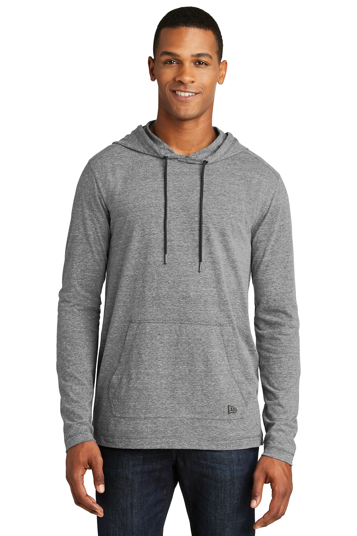 New Era NEA131 - Men's Tri-Blend Performance Pullover Hoodie Tee