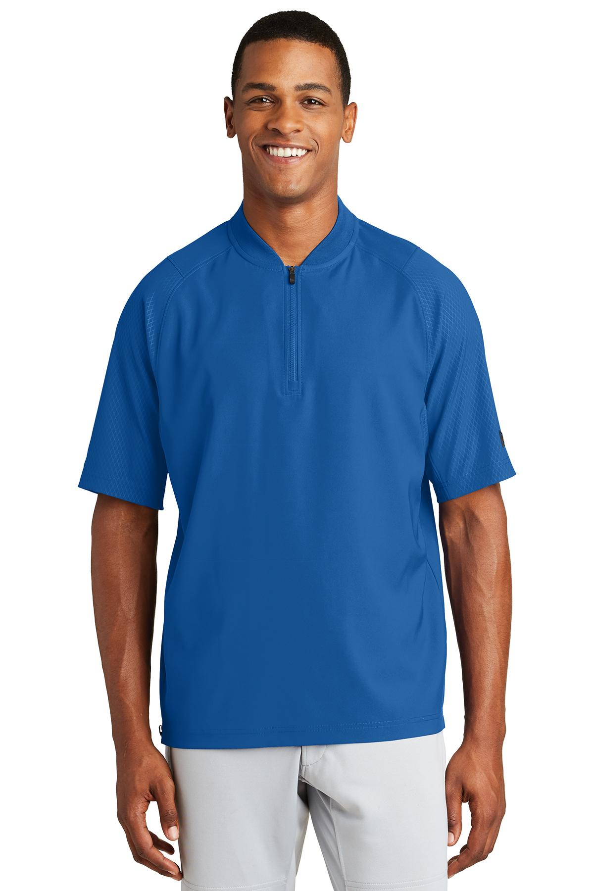 New Era NEA600 - Men's Cage Short Sleeve 1/4 Zip Jacket