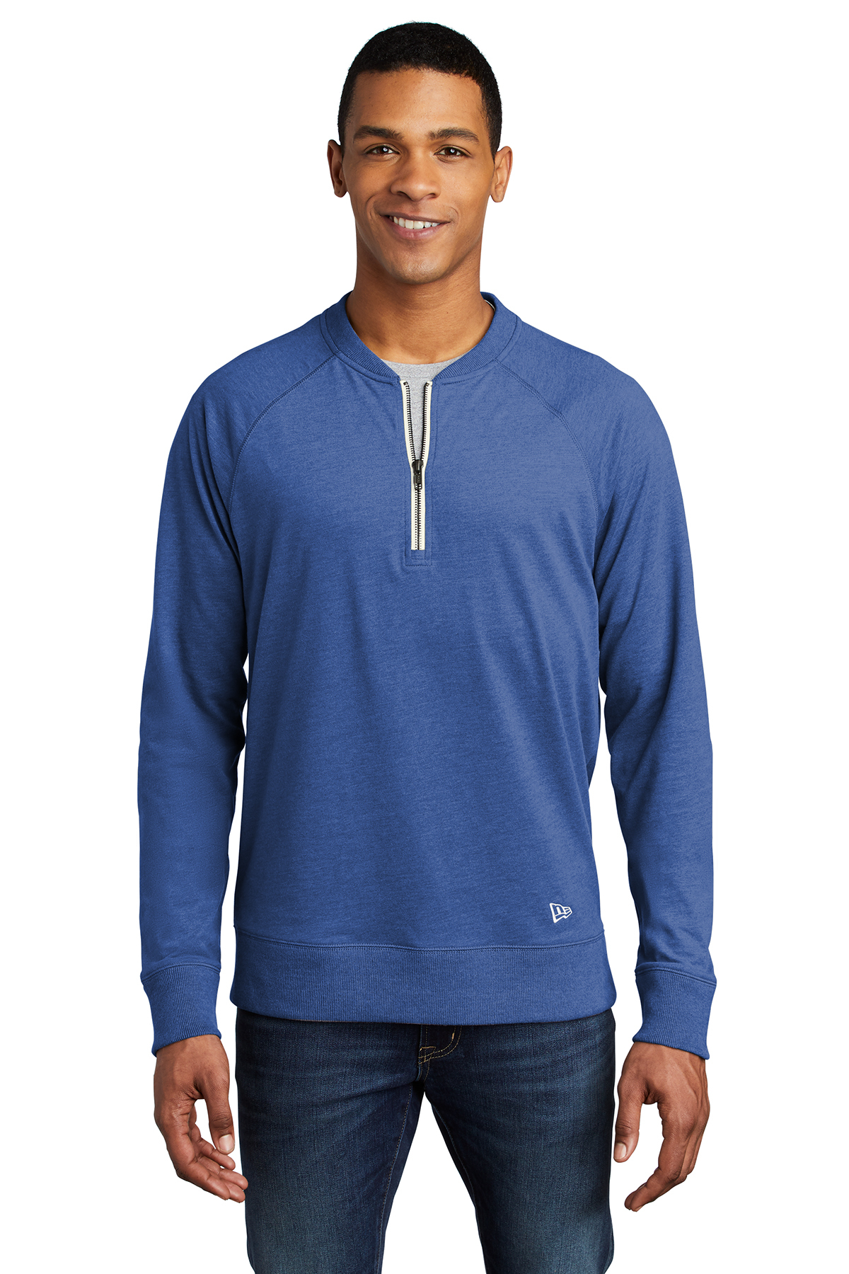 New Era NEA123 - Sueded Cotton Blend 1/4-Zip Pullover