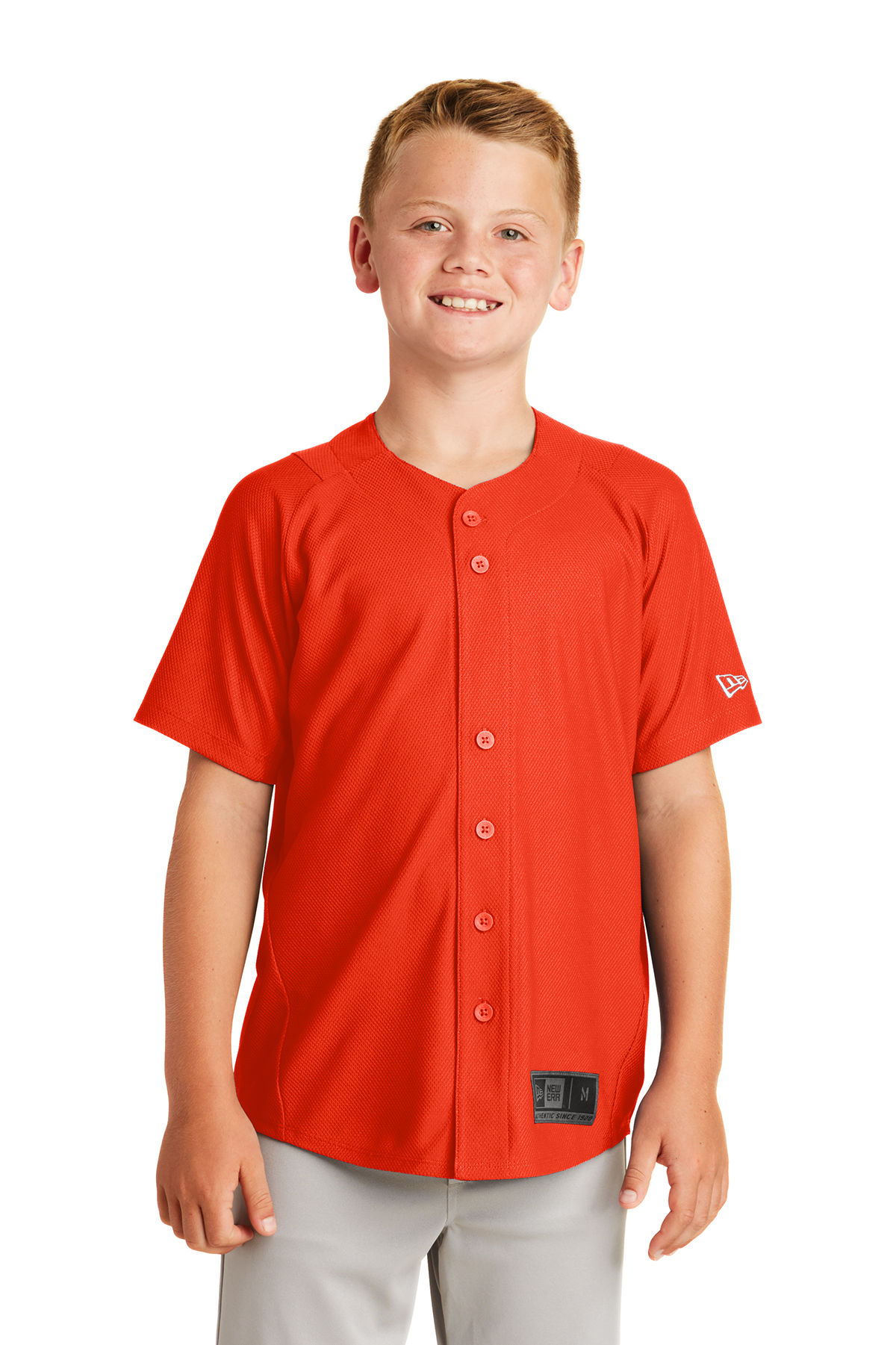New Era YNEA220 - Youth Diamond Era Full Button Jersey