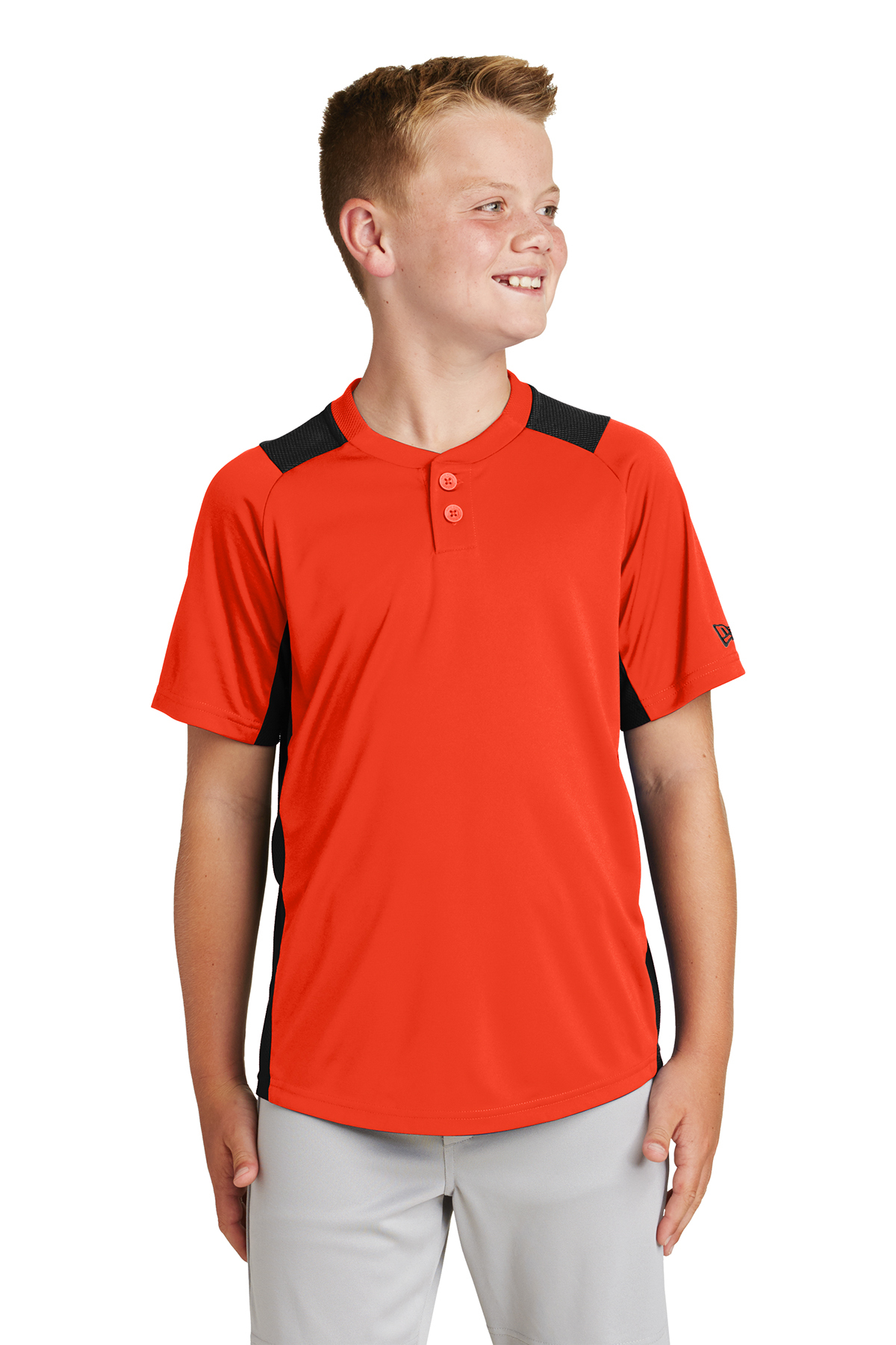 New Era YNEA221 - Youth Diamond Era 2-Button Jersey