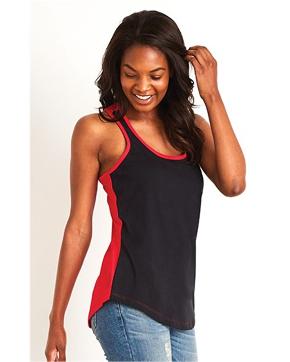 Next Level 1534 - Women's Ideal Colorblock Racerback Tank