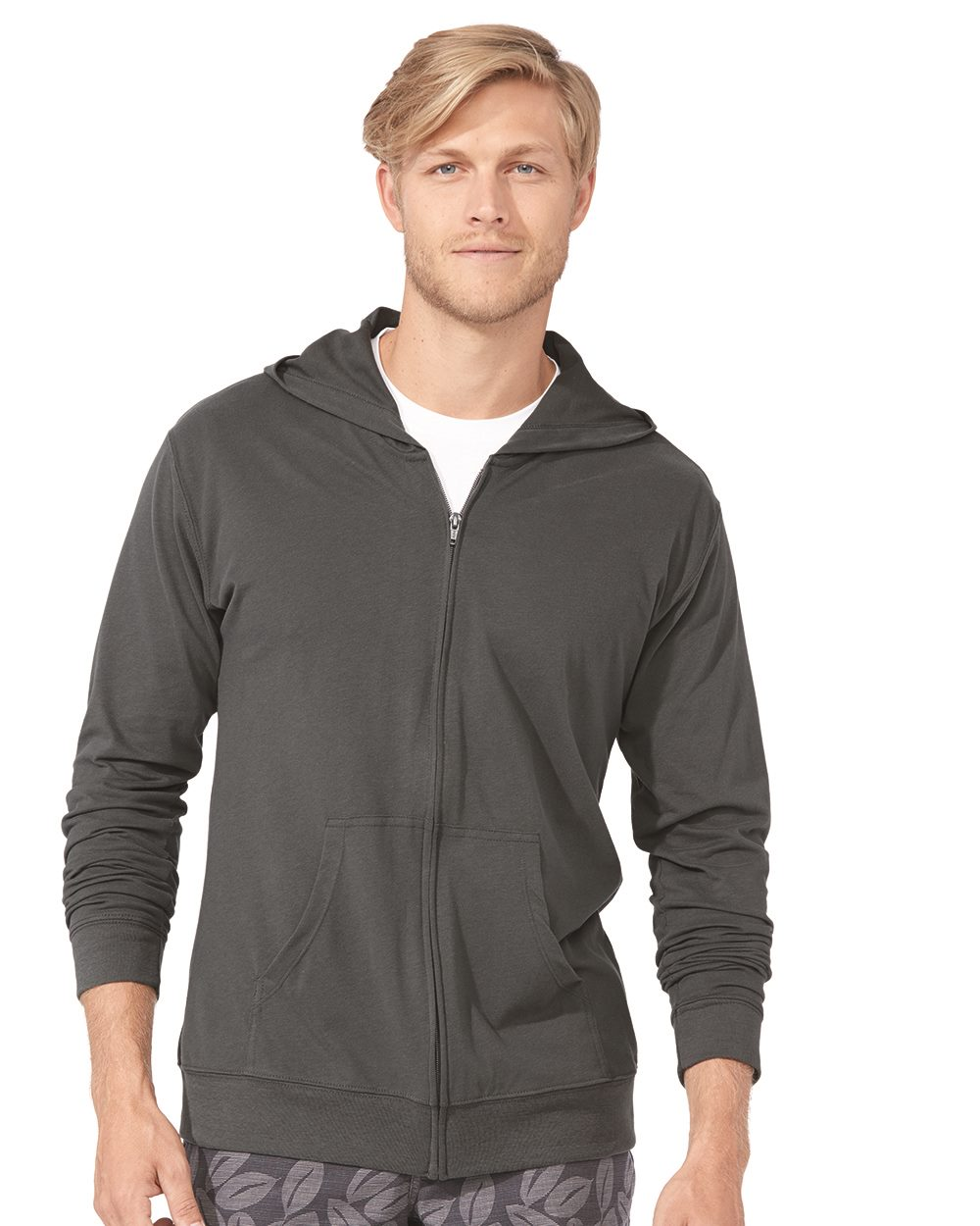 Next Level 6491 - Unisex Sueded Hooded Zip Tee